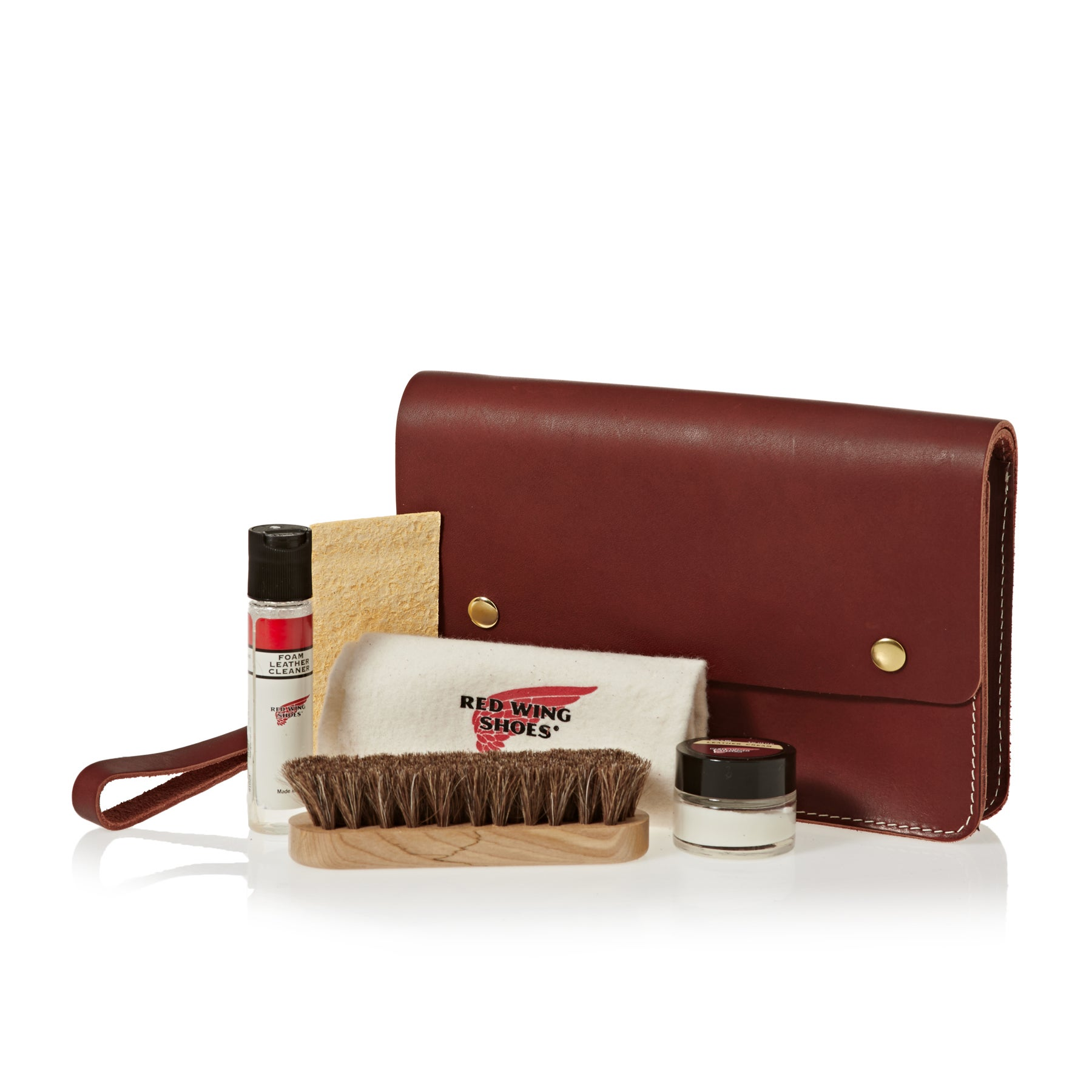 Red Wing Leather Travel Care Kit Boot Polish - Brown