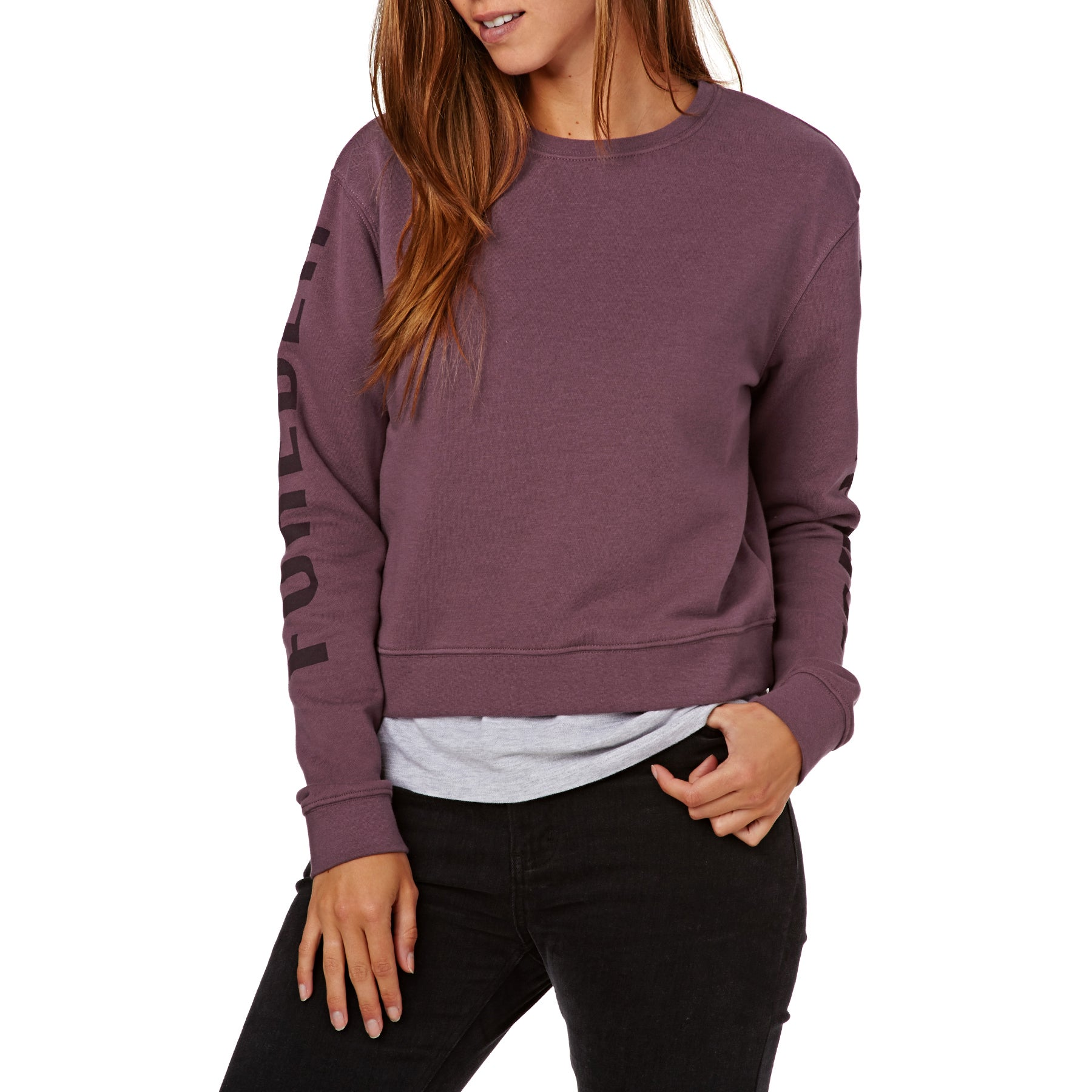 SWELL Hampstead Crew Damen Pullover - Plum