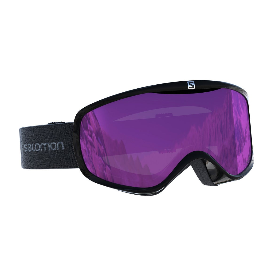 Salomon Sense Black Damen Schneebrille - Ruby Multilayer