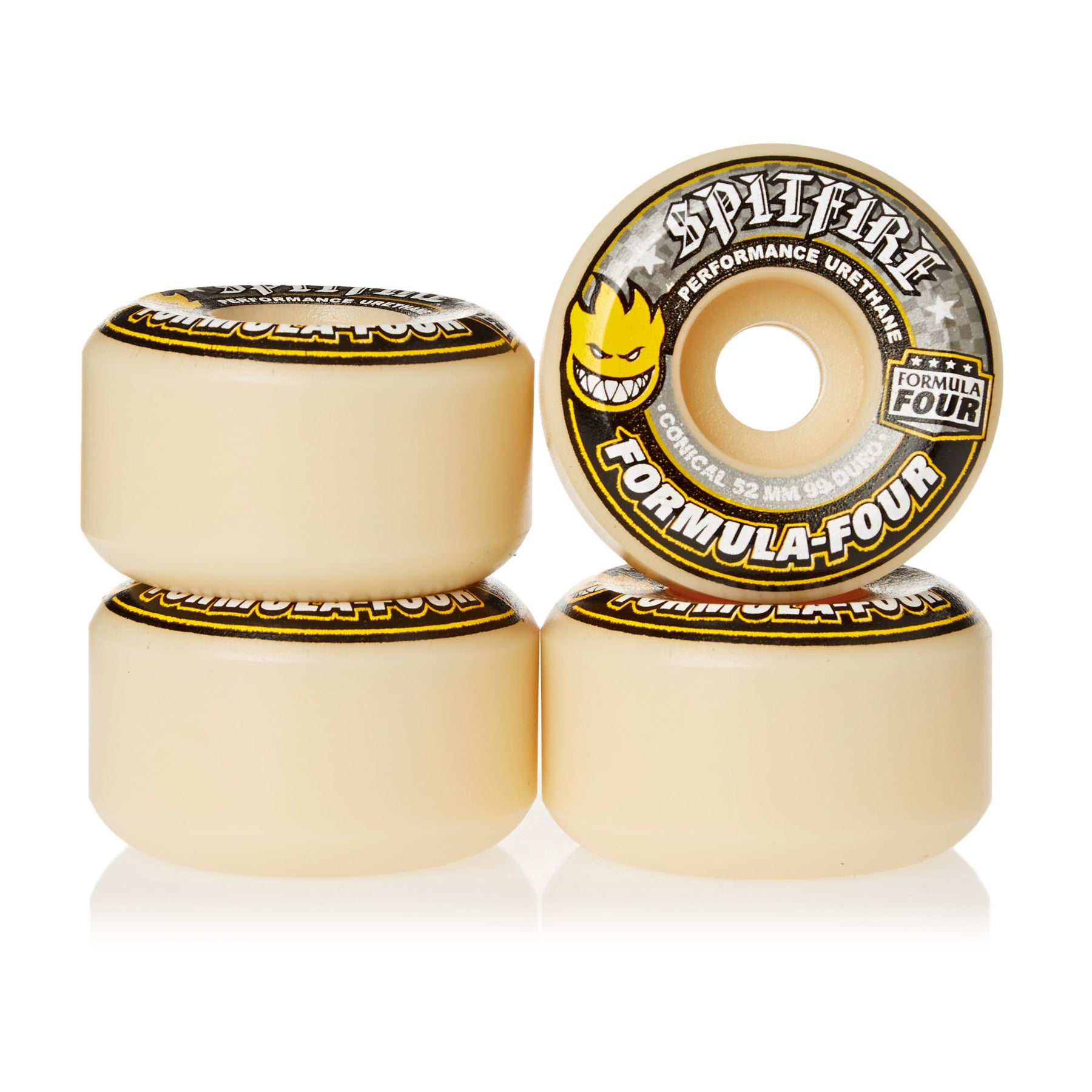 Spitfire Formula Four Wheels Conical 99DU Natural 52mm Skateboard Wheel - White