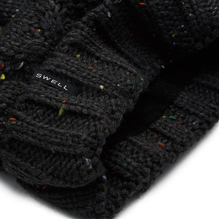SWELL Cuffed Cable Knit Pom Beanie