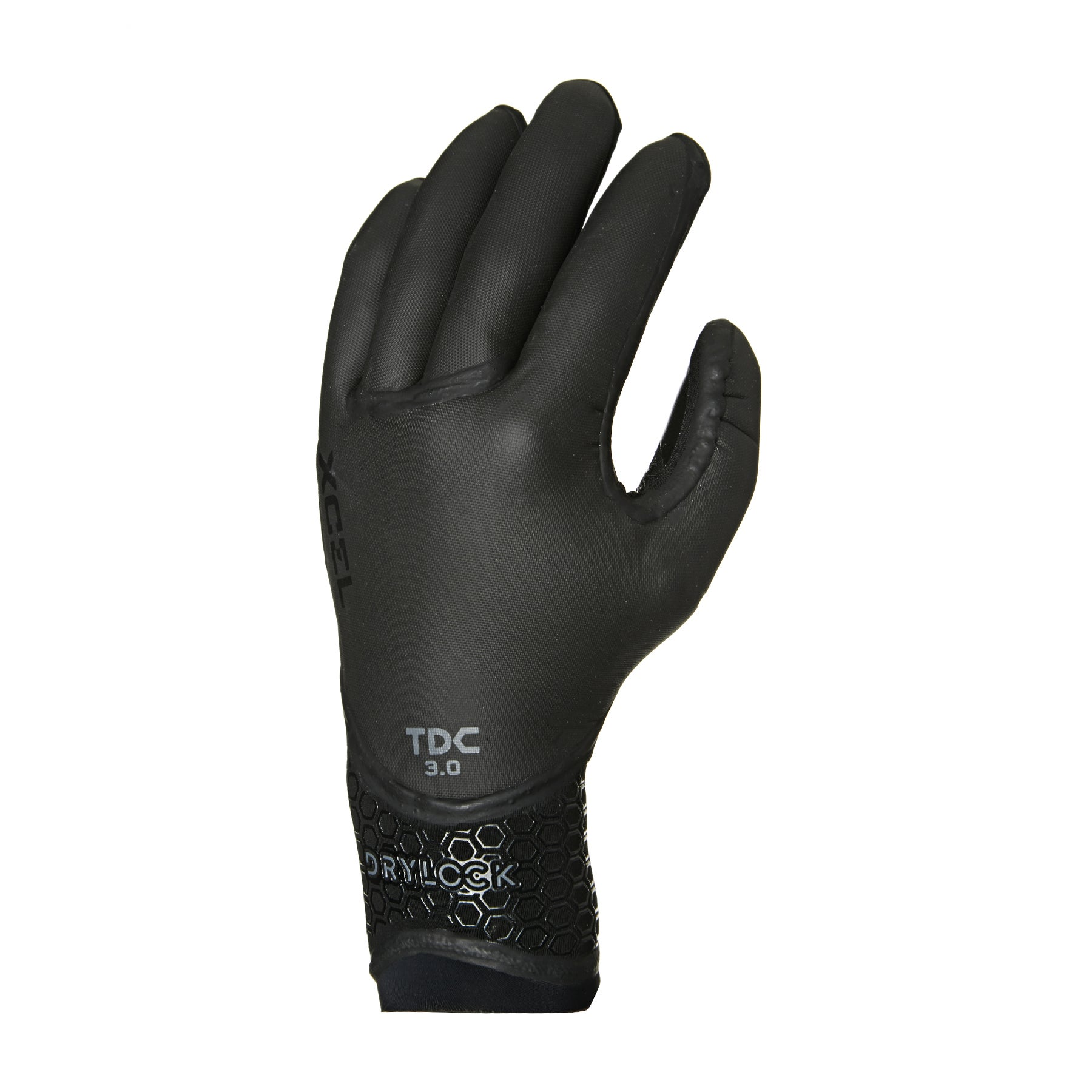 Xcel Drylock 3mm 5 Finger Wetsuit Gloves - Black