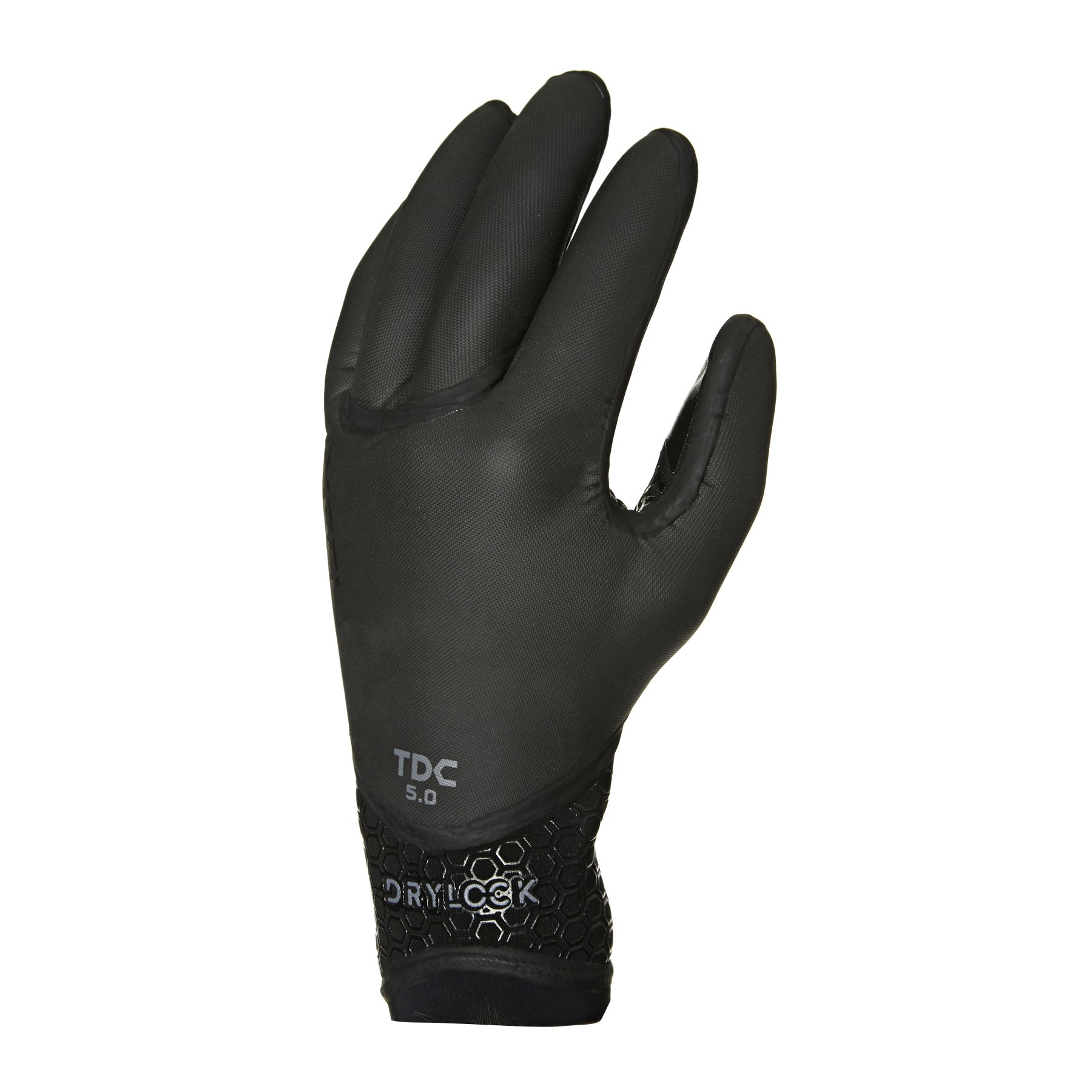 Xcel Drylock 5mm 5 Finger Wetsuit Gloves - Black