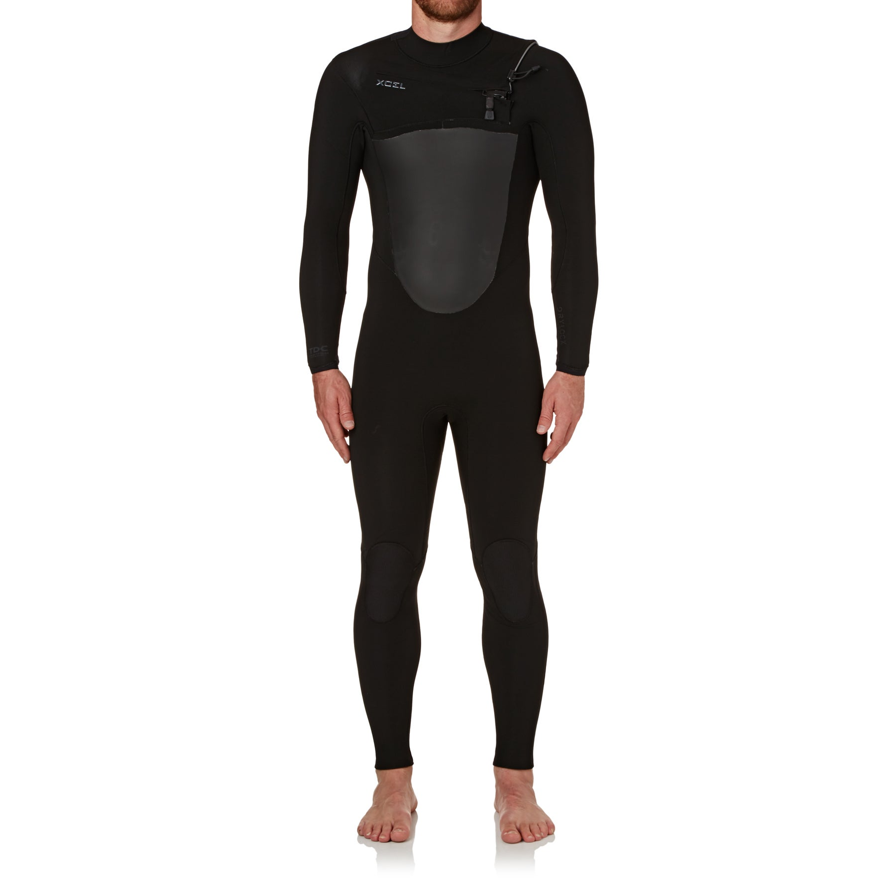 Xcel Drylock 5/4mm 2018 Chest Zip Wetsuit - Black/ Black Logos