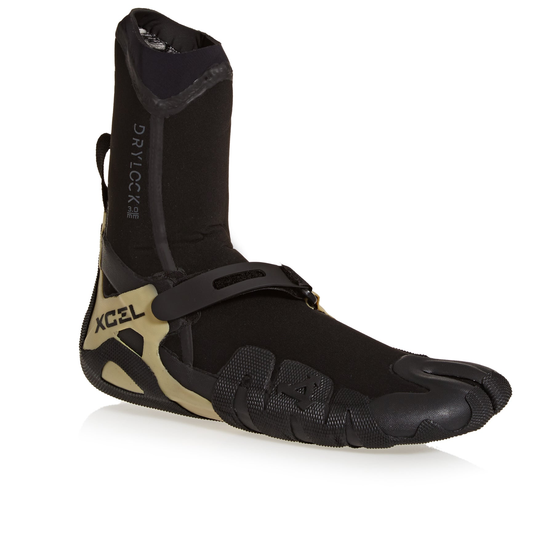 Xcel Drylock 3mm Split Toe Wetsuit Boots - Black Gum