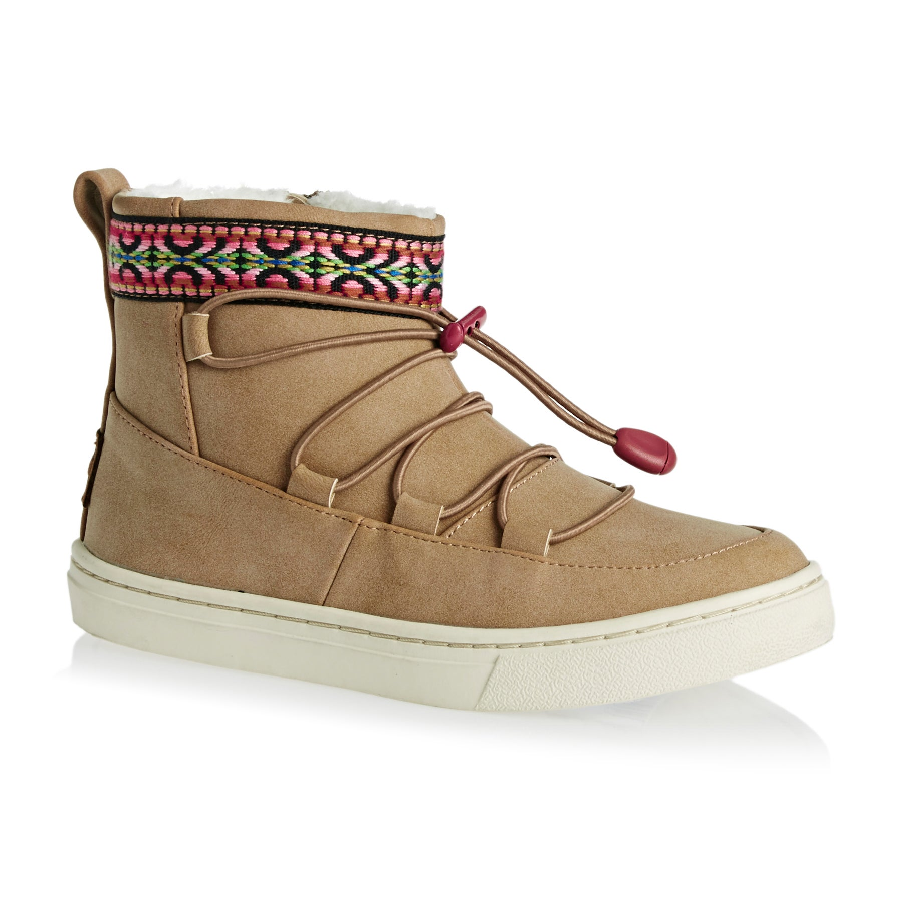 Toms Youth Alpine Girls Boots - Toffee Synthetic Suede