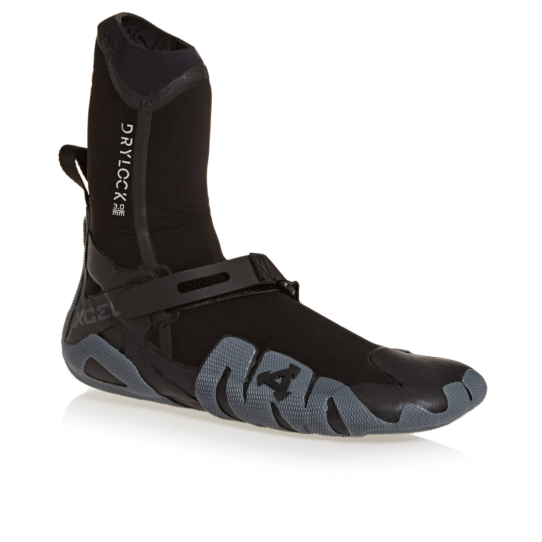 Xcel Drylock 3mm Round Toe Wetsuit Boots - Black Grey