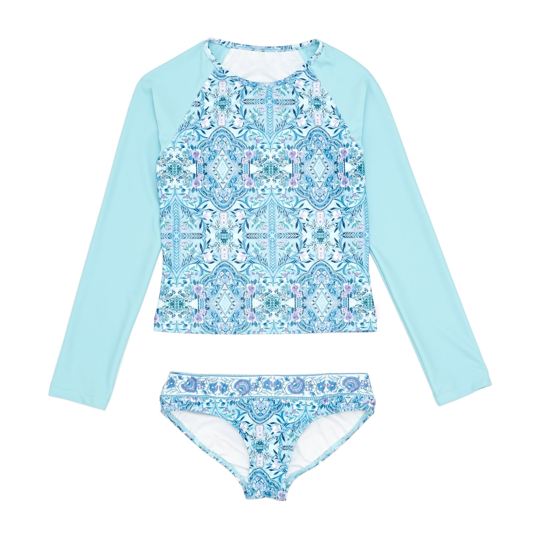 Seafolly Gypsy Dream Ls Surf Set Mädchen Tankinis - Aqua Sky