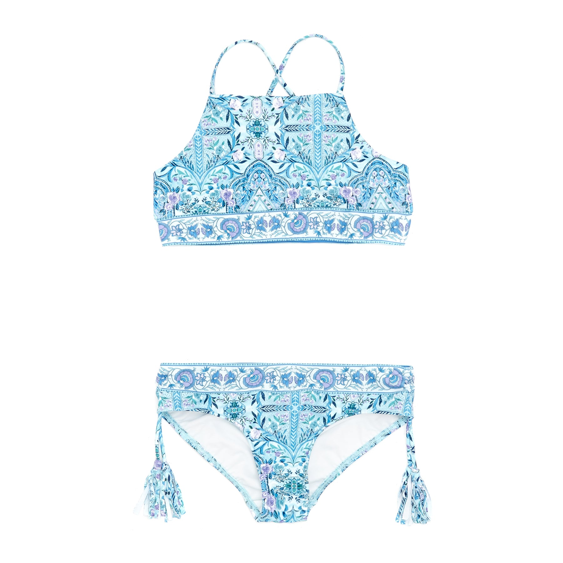 Seafolly Gypsy Dream Girls Bikini - Aqua Sky
