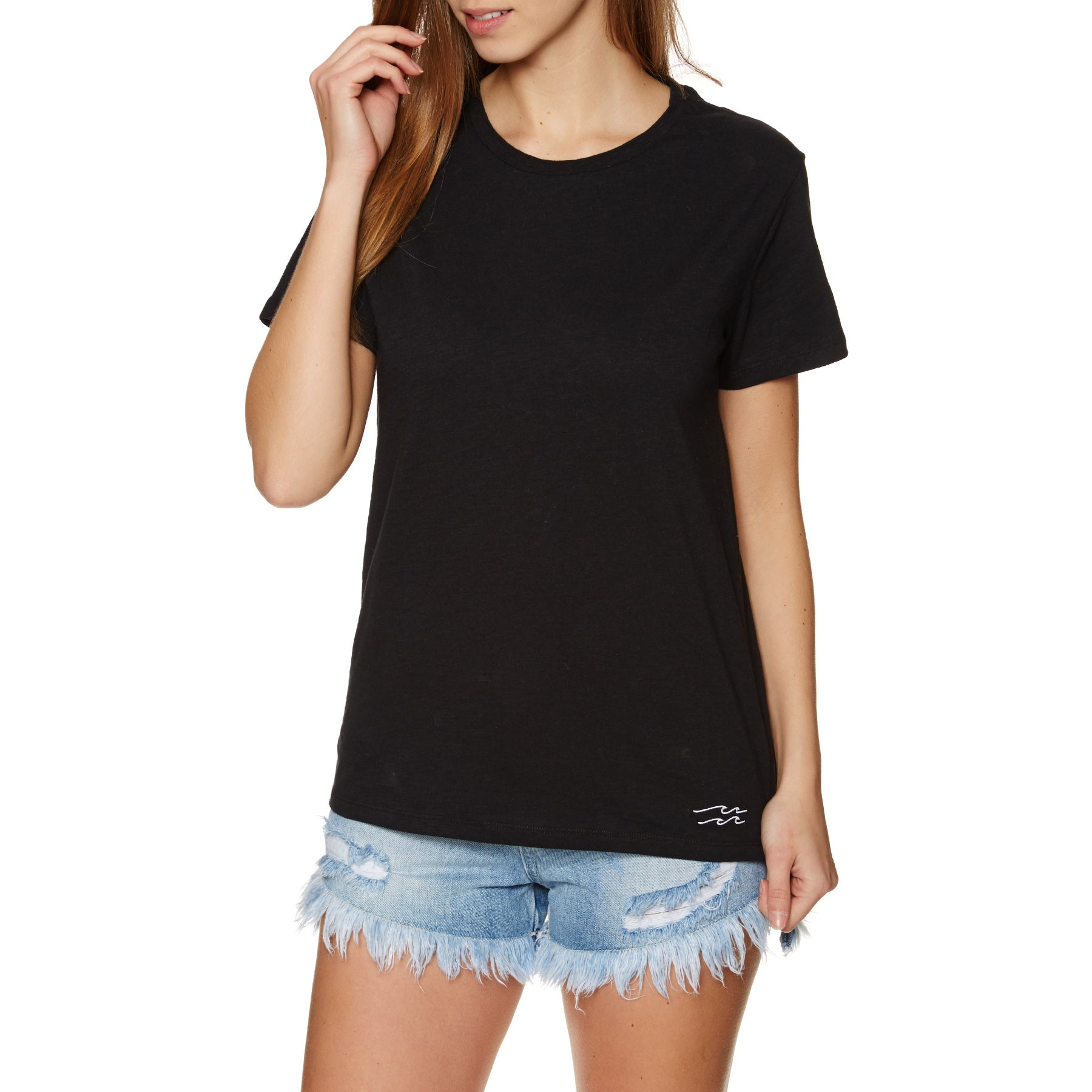 T-Shirt a Manica Corta Donna Billabong Essential - Black