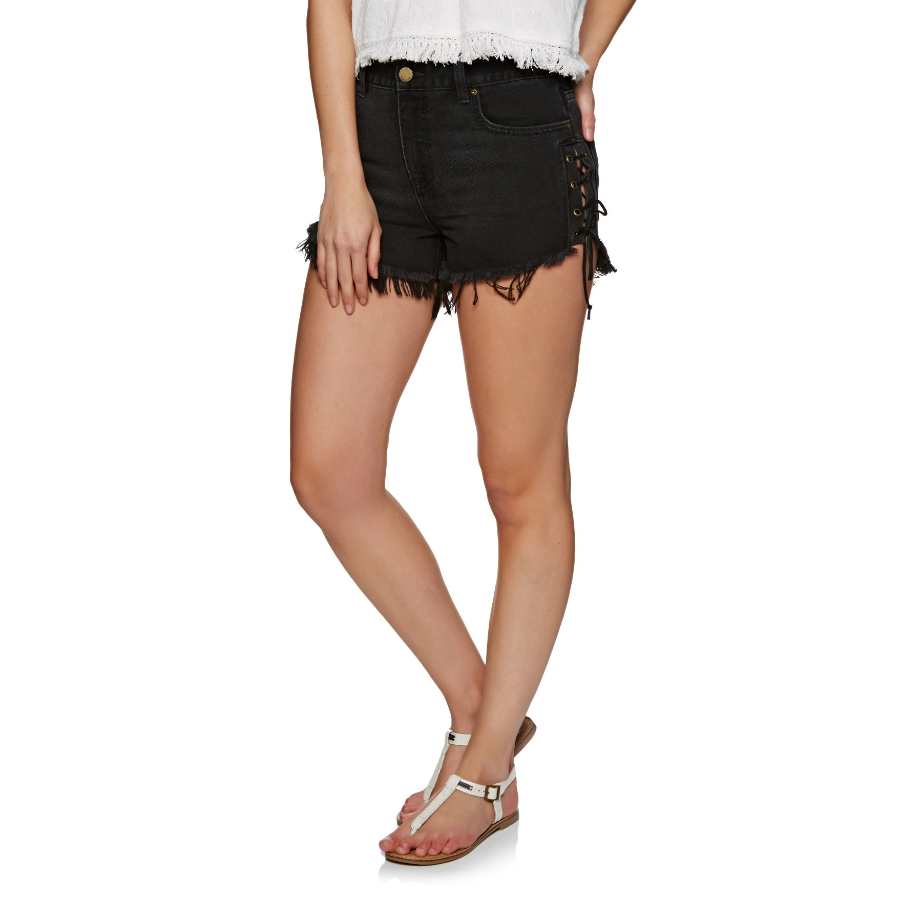 Billabong Tide Out Womens Walk Shorts - Black Pebble