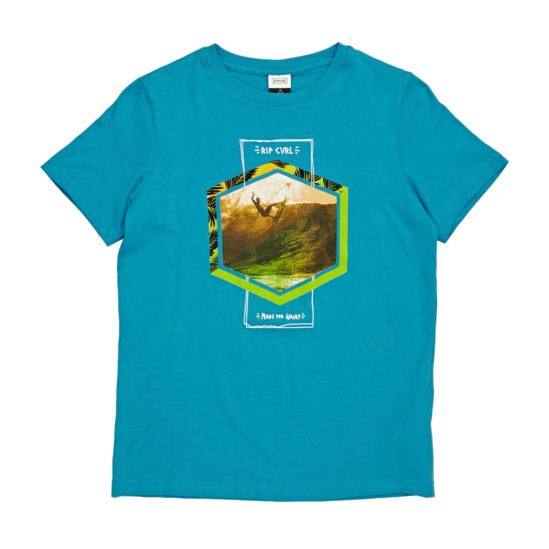 Camiseta de manga corta Boys Rip Curl Action Palm - Barrier Reff