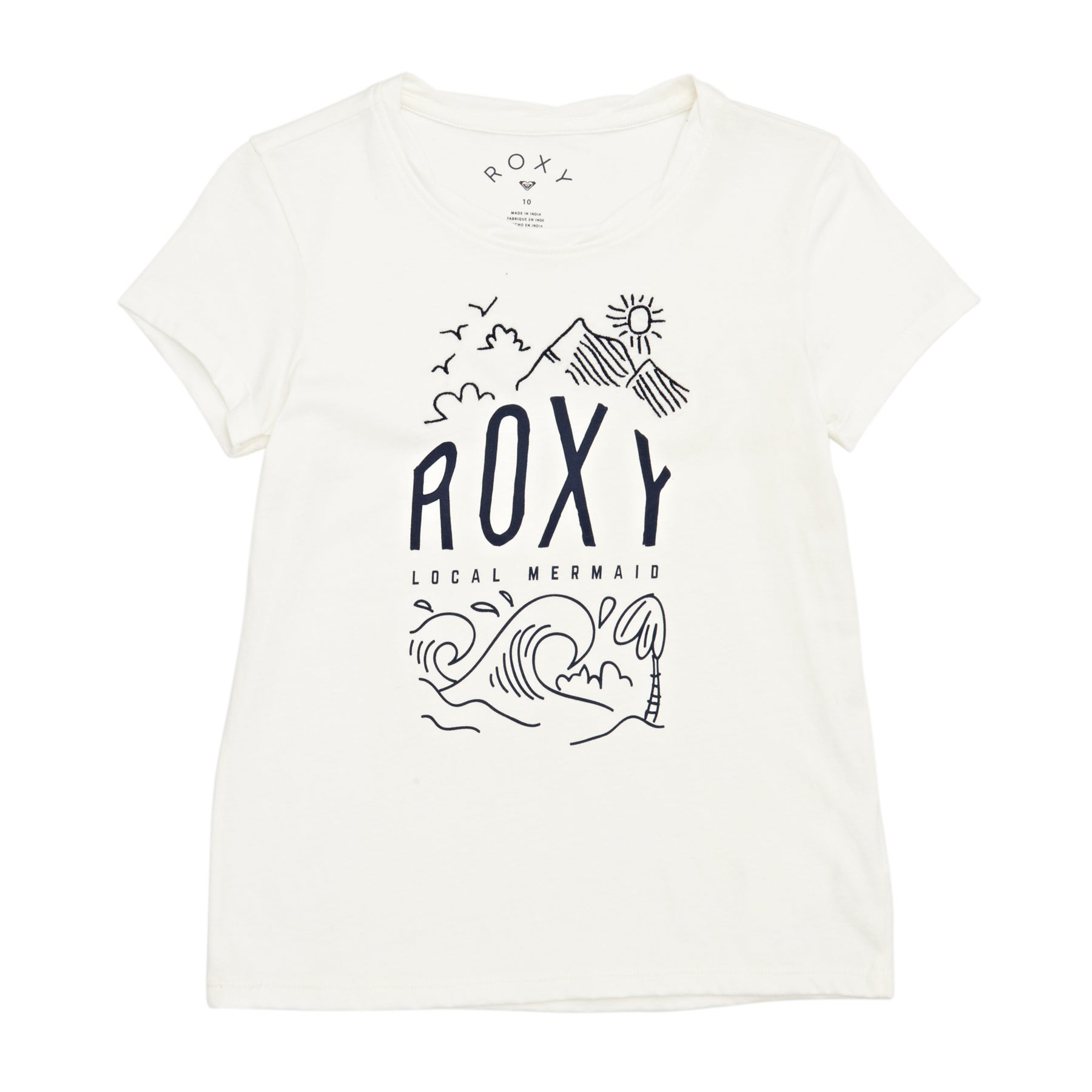 Roxy See You Again Night Surf Girls Short Sleeve T-Shirt - Marshmallow