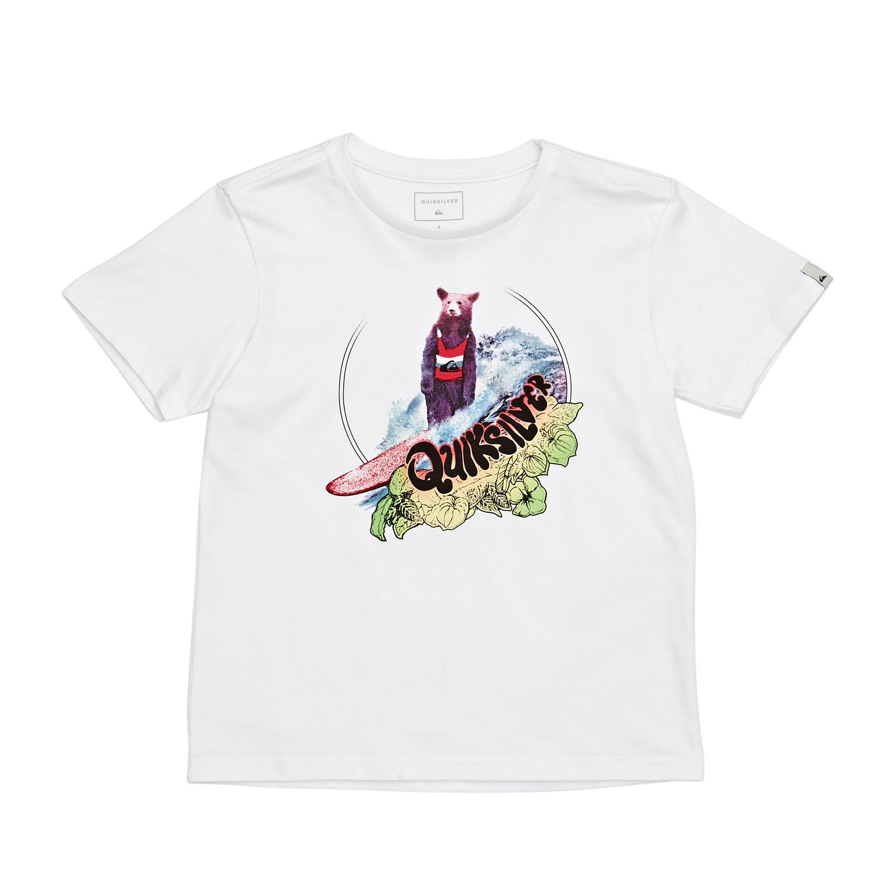 Quiksilver Log Bear Boys Short Sleeve T-Shirt - White