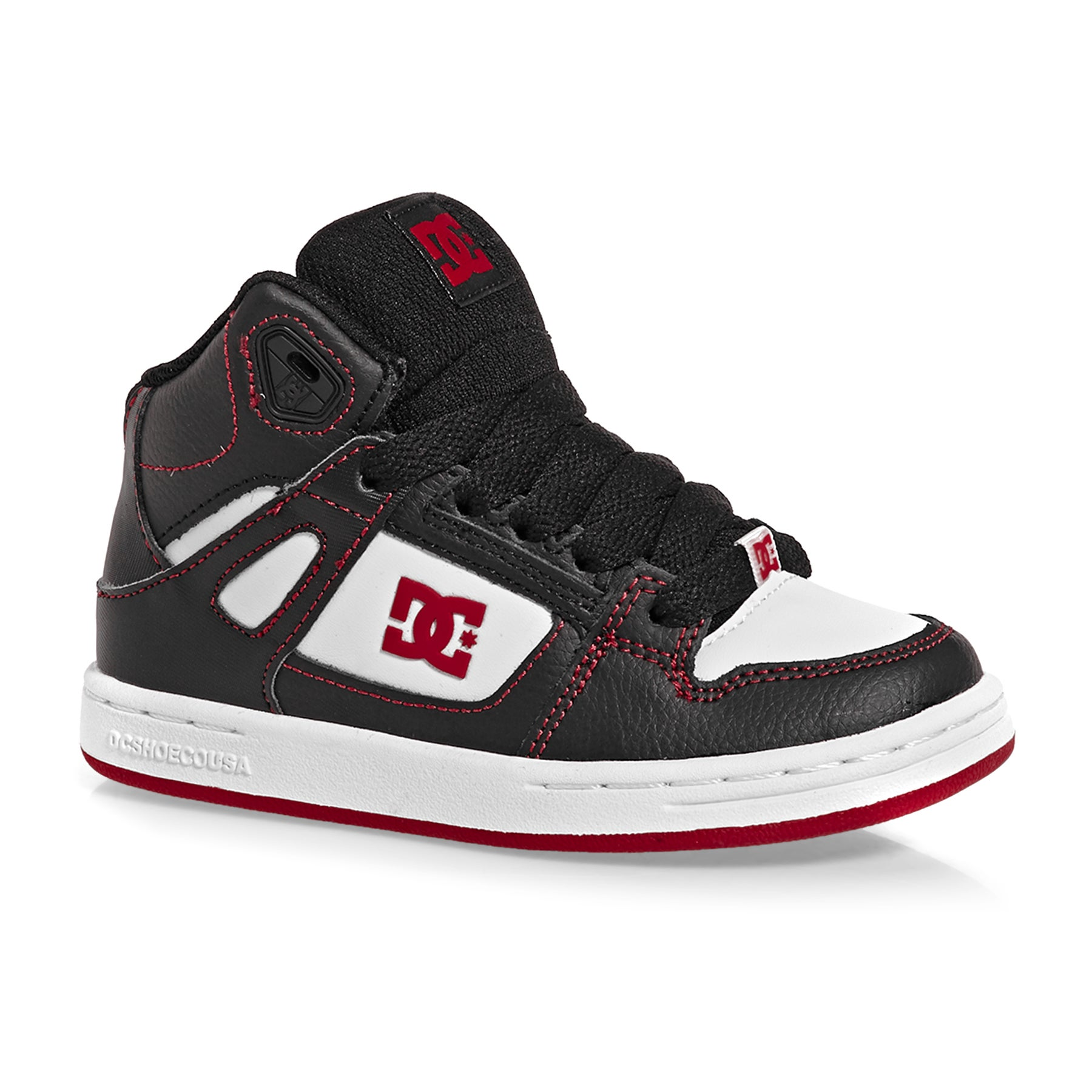 DC Pure HT Boys Shoes - Black Red White