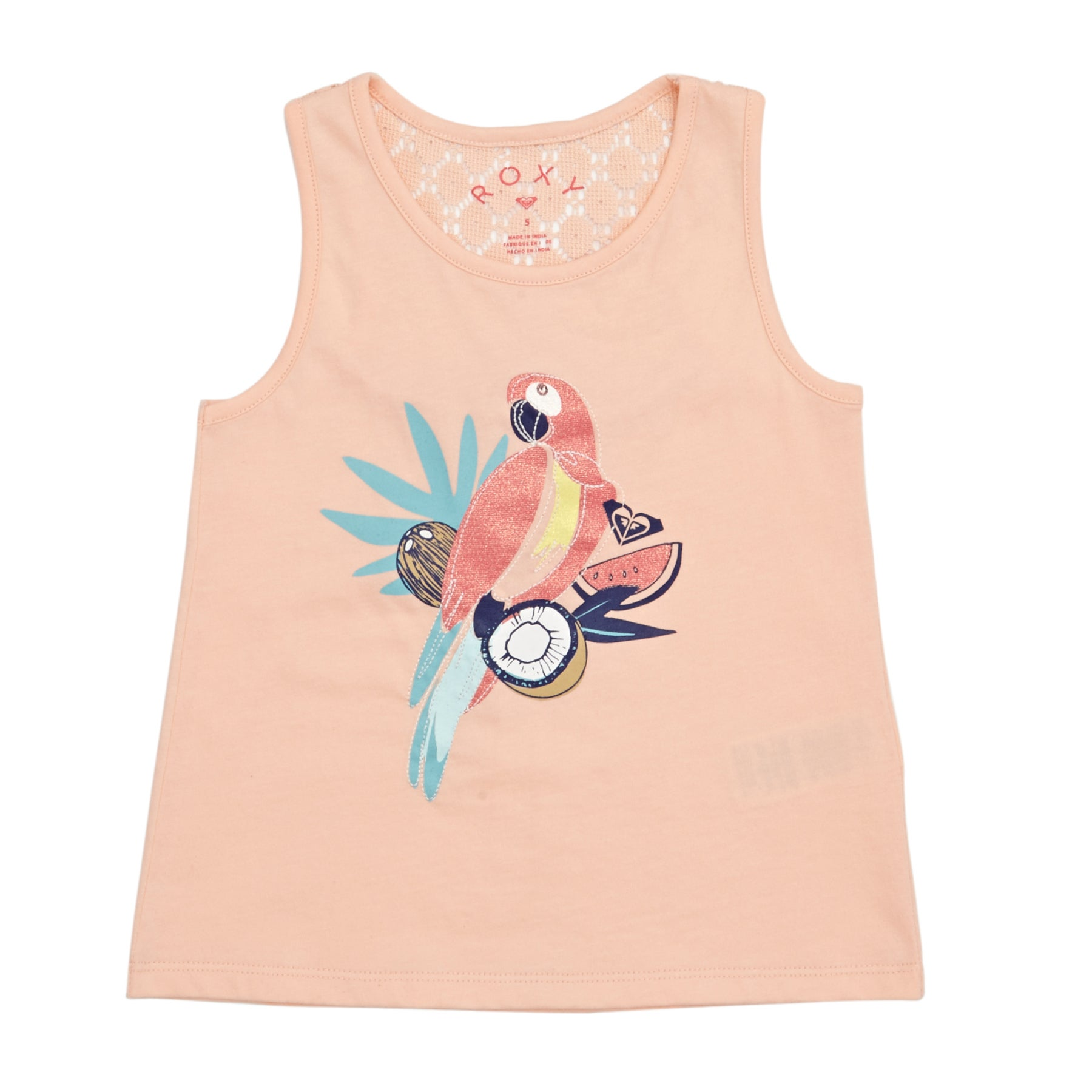 Roxy Peaceful Light The Parrot Girls Tank Vest - Tropical Peach