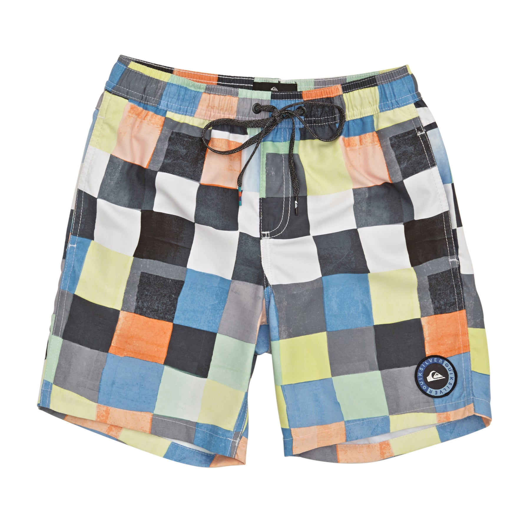 Quiksilver Resin Check 15 Boys Boardshorts - White
