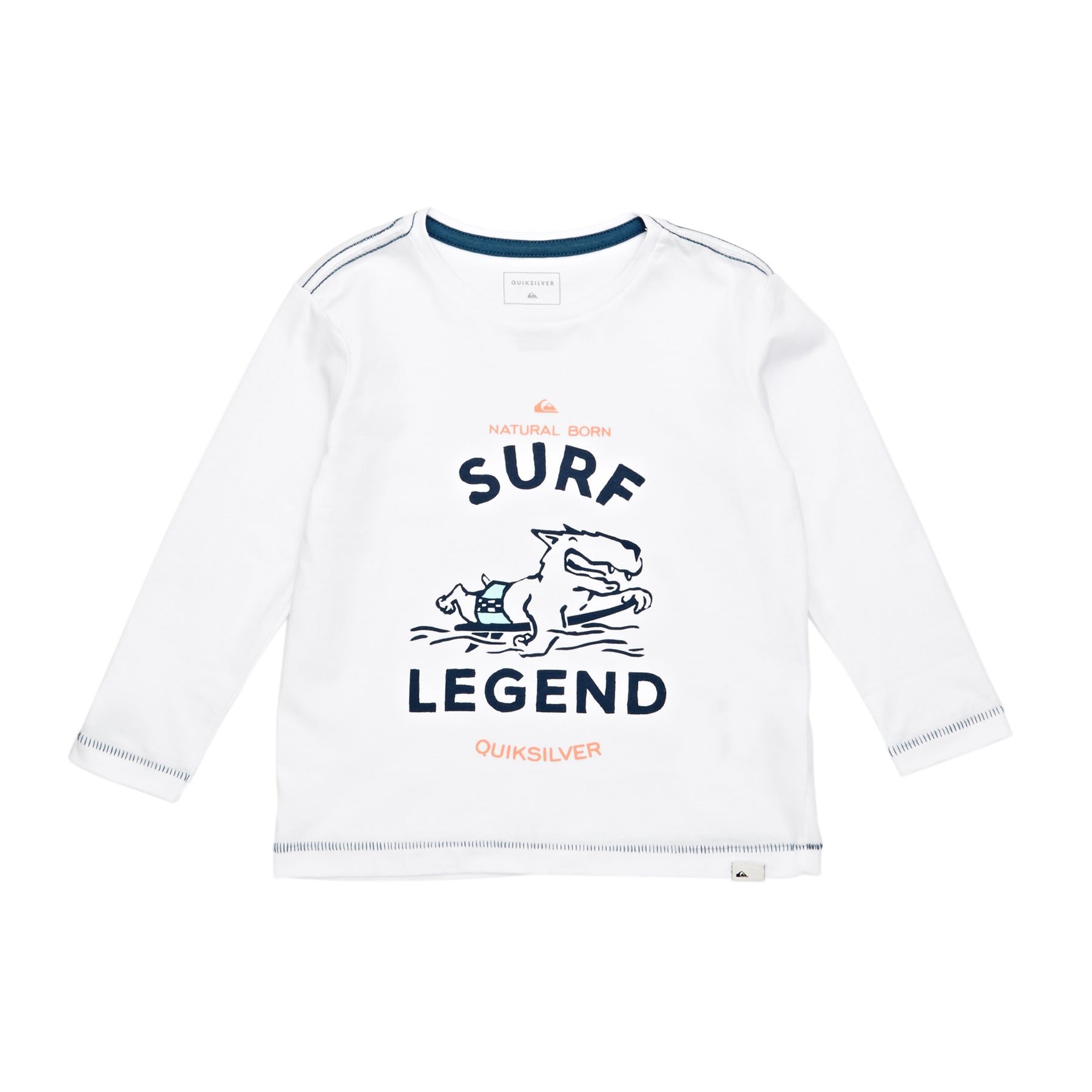 Quiksilver Surf Legend Boys Long Sleeve T-Shirt - White