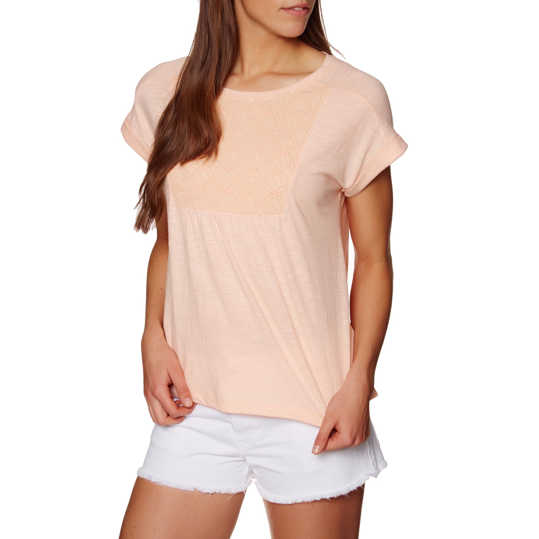 T-Shirt à Manche Courte Femme Roxy Cloud Discover - Tropical Peach