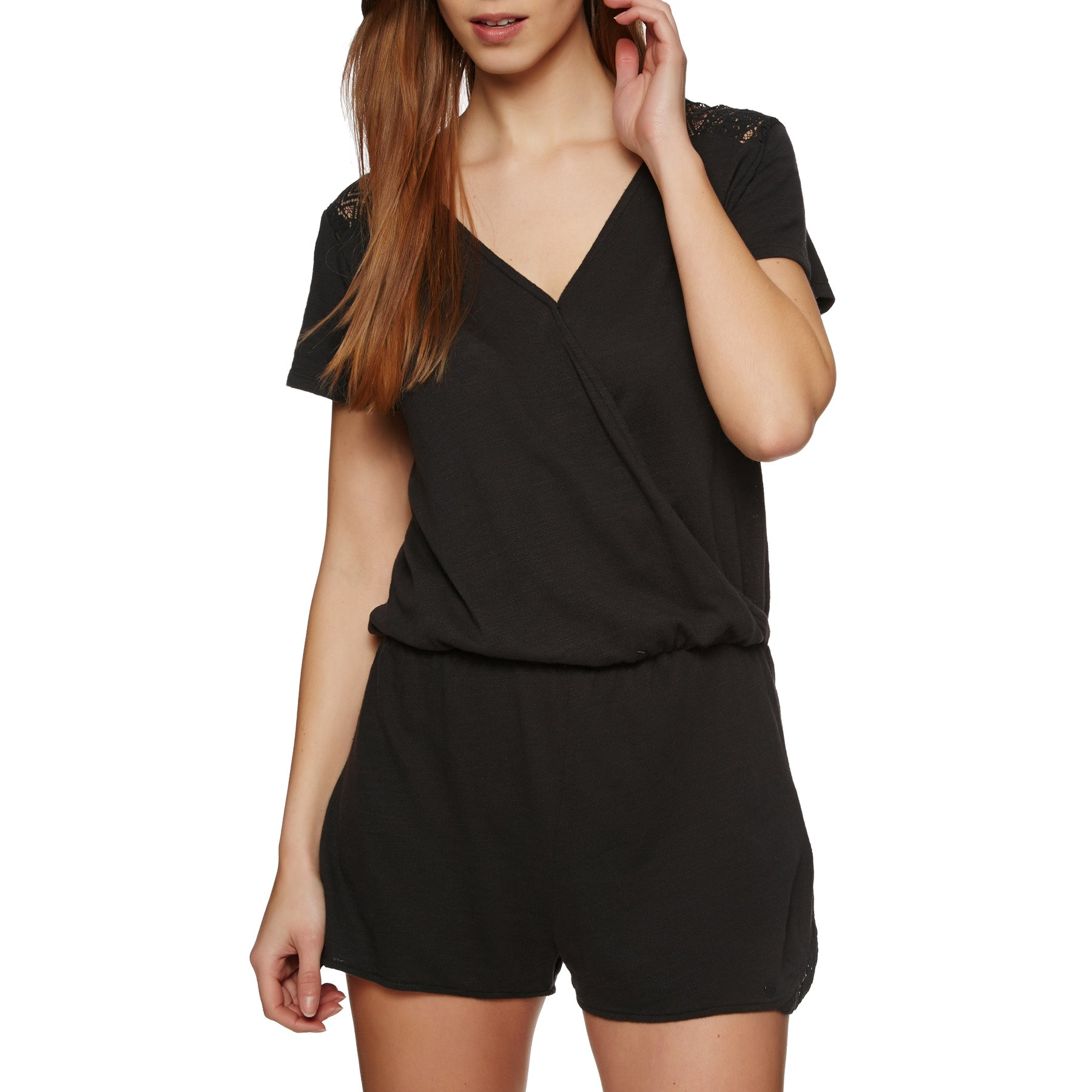 Roxy Salty Evening Playsuit - Anthracite