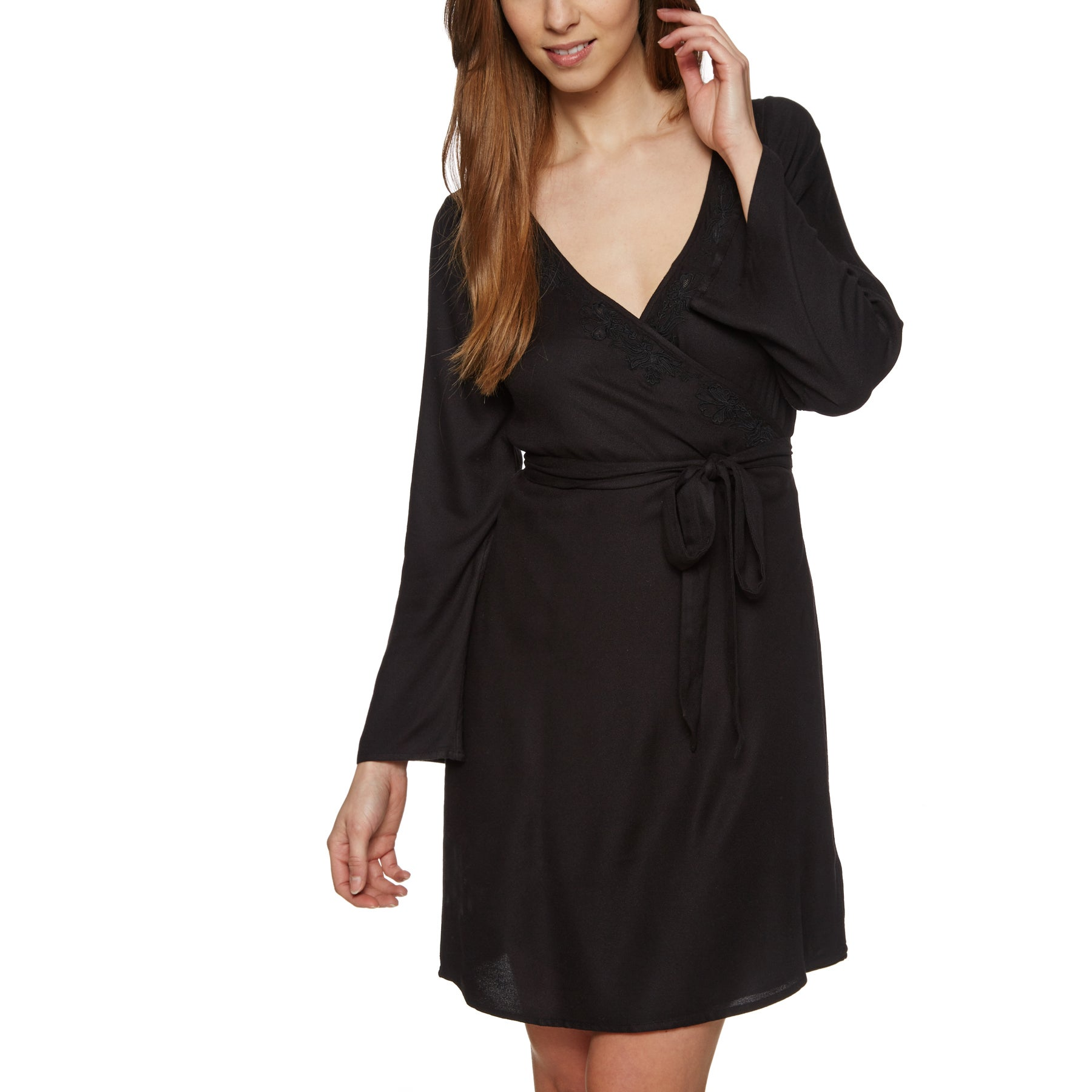 Roxy Small Hours Solid Dress - Anthracite