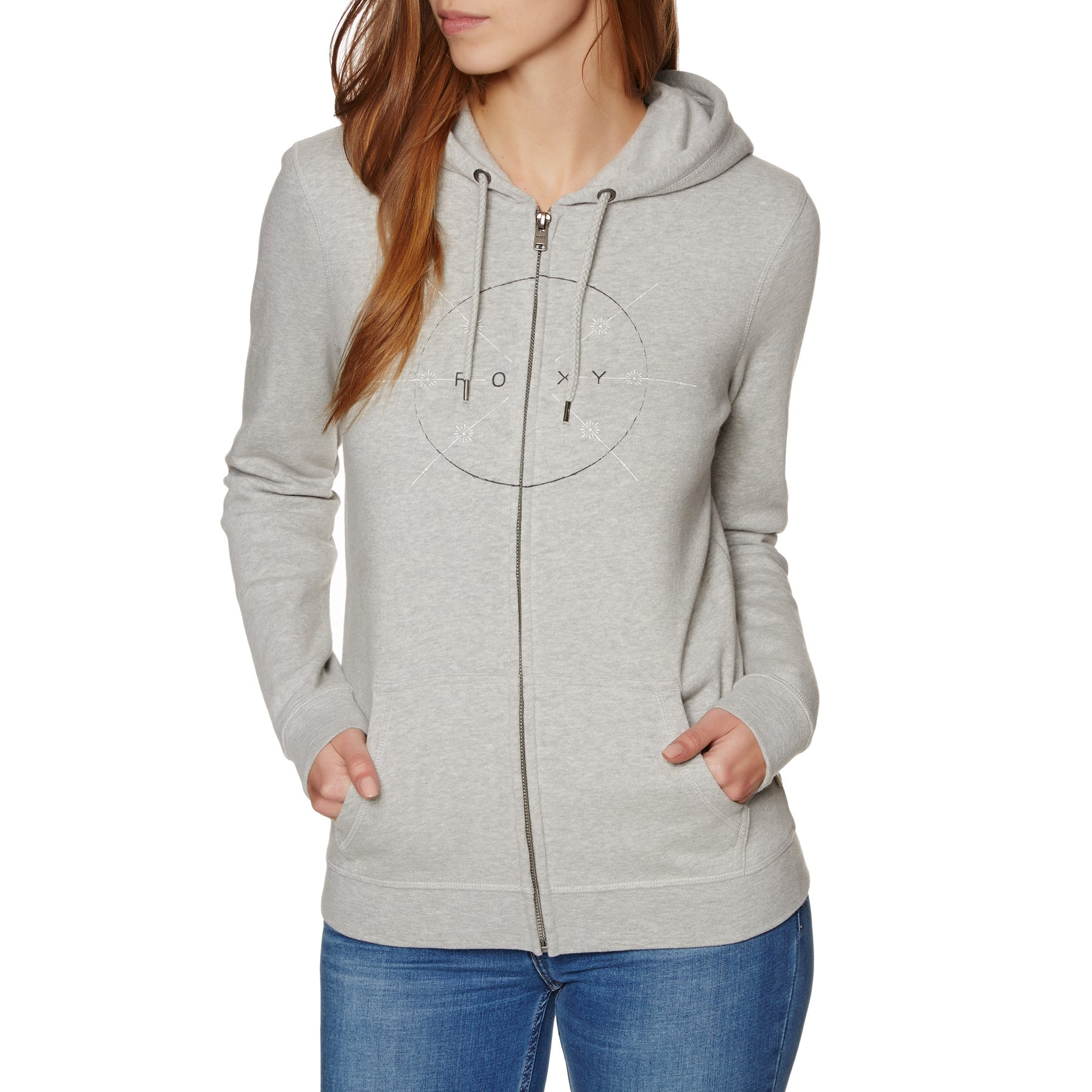 Roxy Full Of Joy Womens Zip Hoody - Heritage Heather