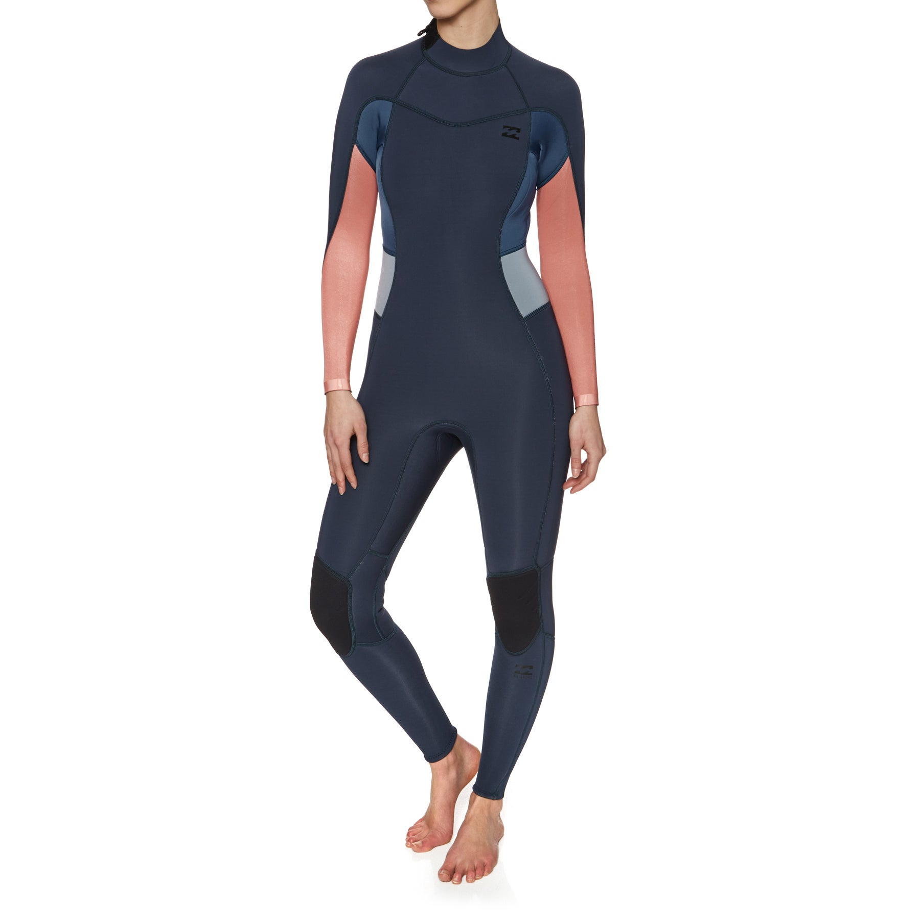 Billabong Synergy 3/2mm 2018 Back Zip Womens Wetsuit - Slate