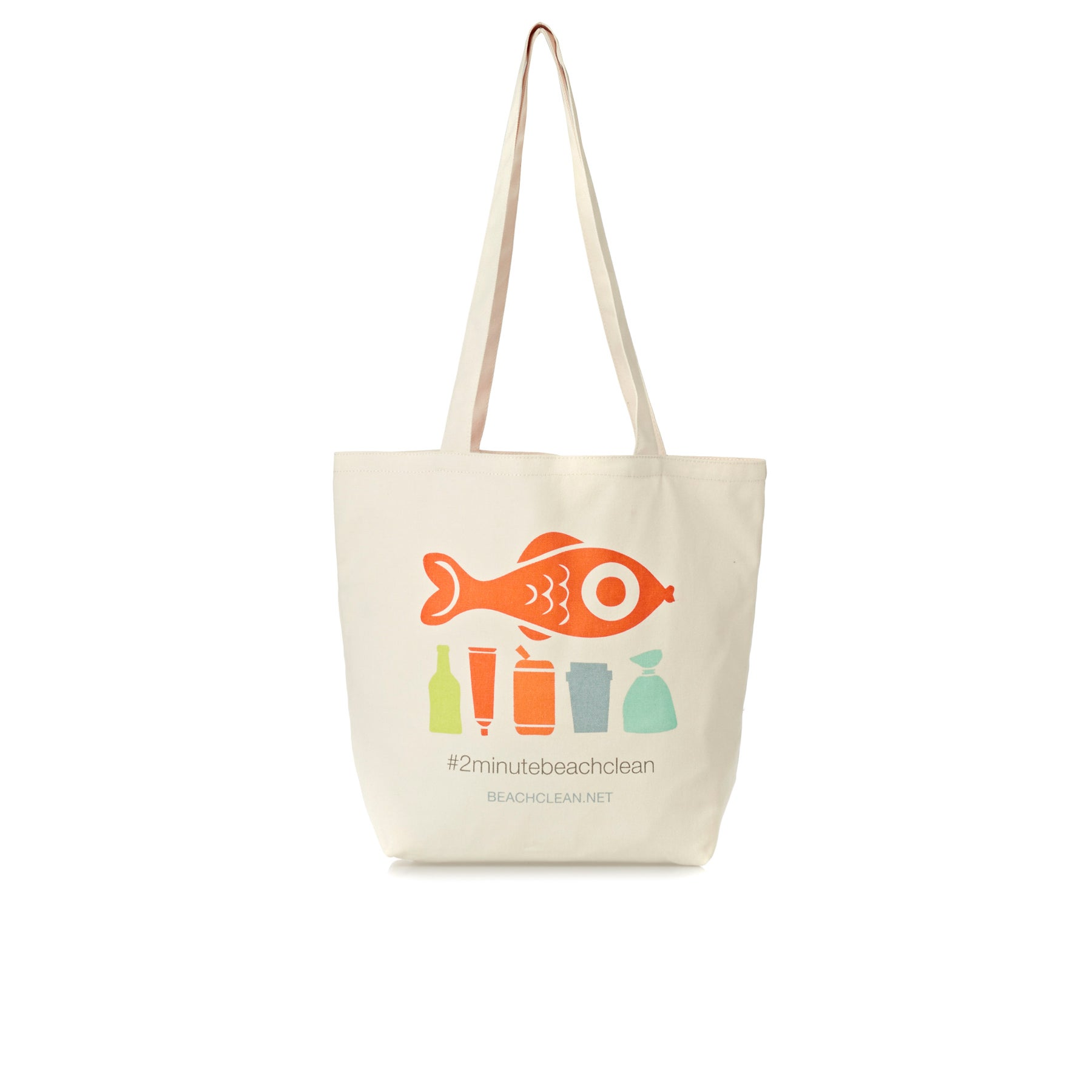 2 Minute Beach Clean Tote Womens Shopper Bag - Natural