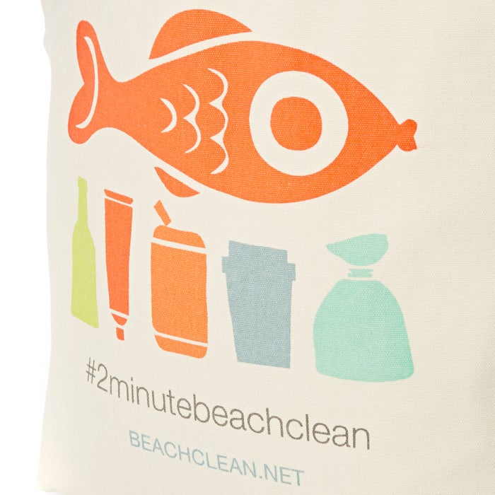 2 Minute Beach Clean Tote Womens Shopper Bag