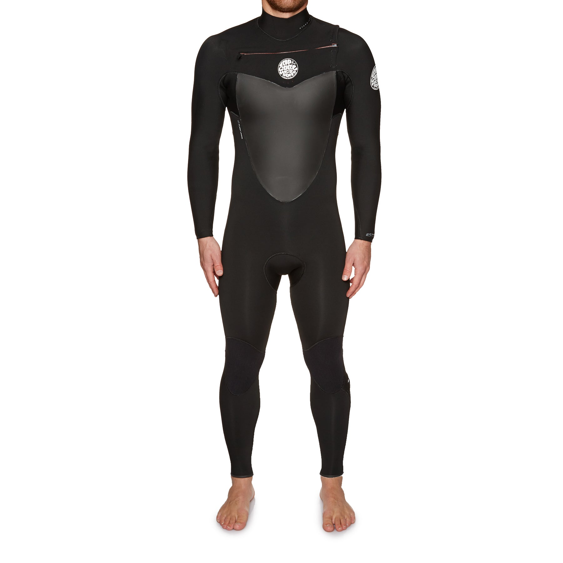 Rip Curl Flashbomb 3/2mm Chest Zip Wetsuit - Black