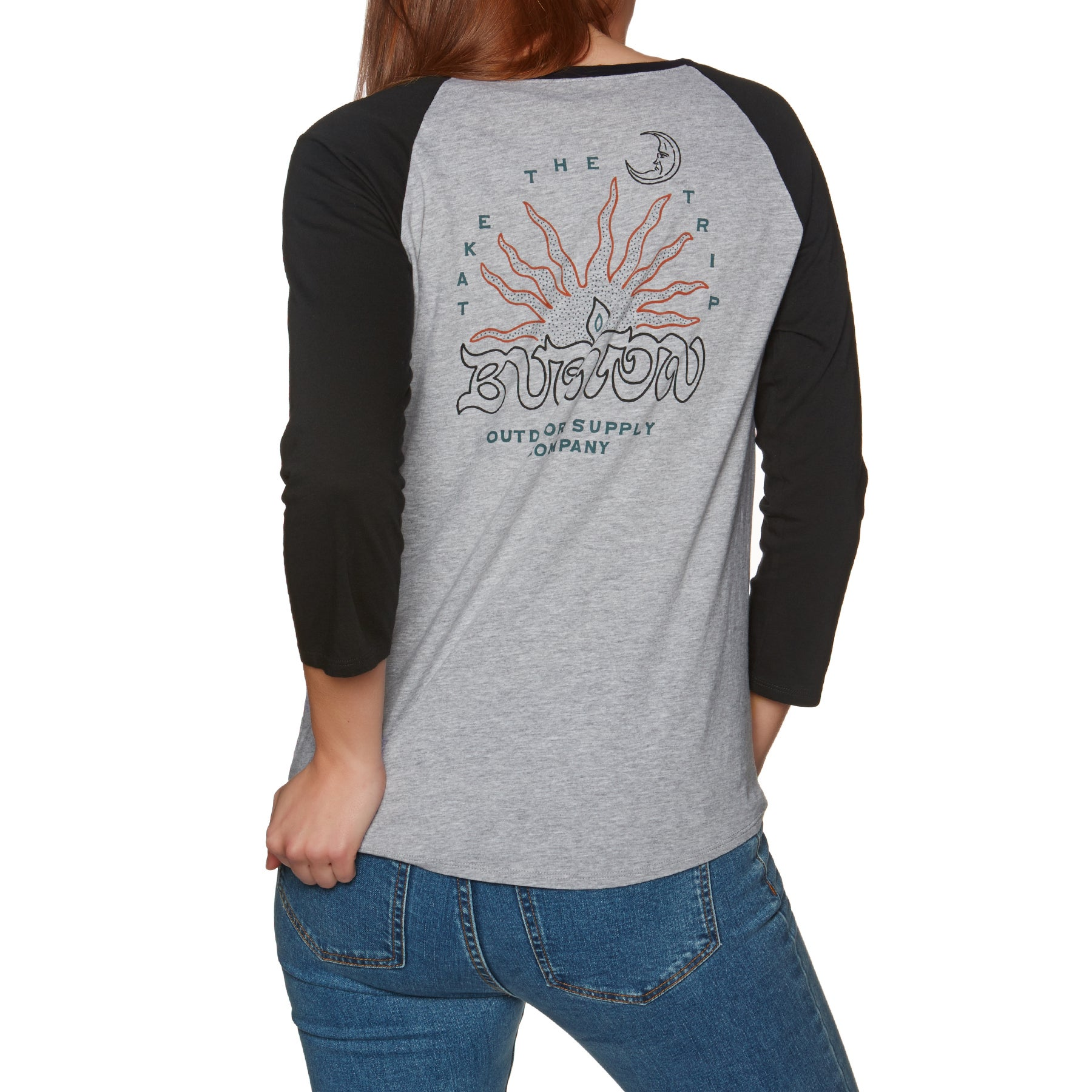 Burton Fernside Raglan Womens Top - Gray Heather