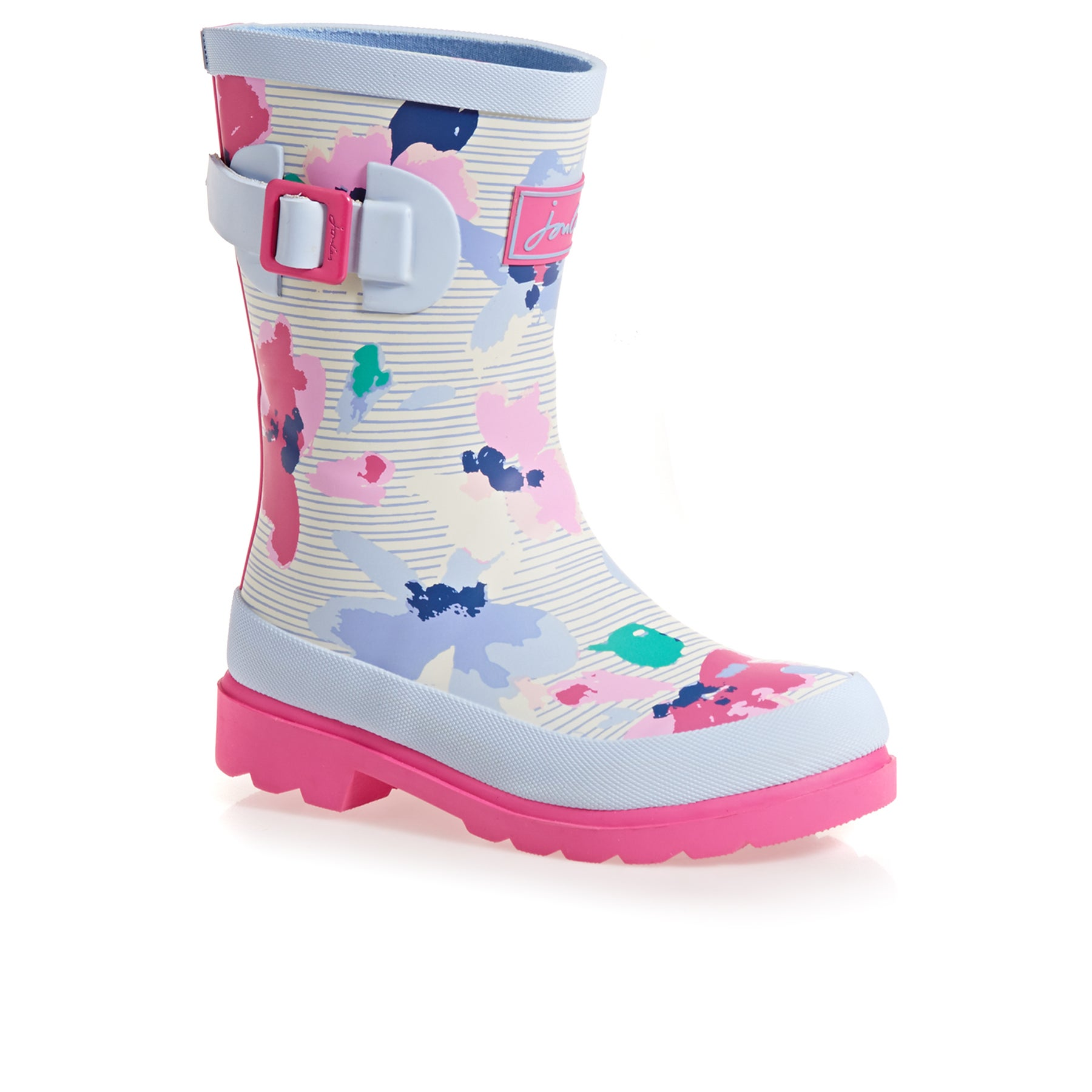 Joules Junior Girls Wellies - Lily Pond Stripe