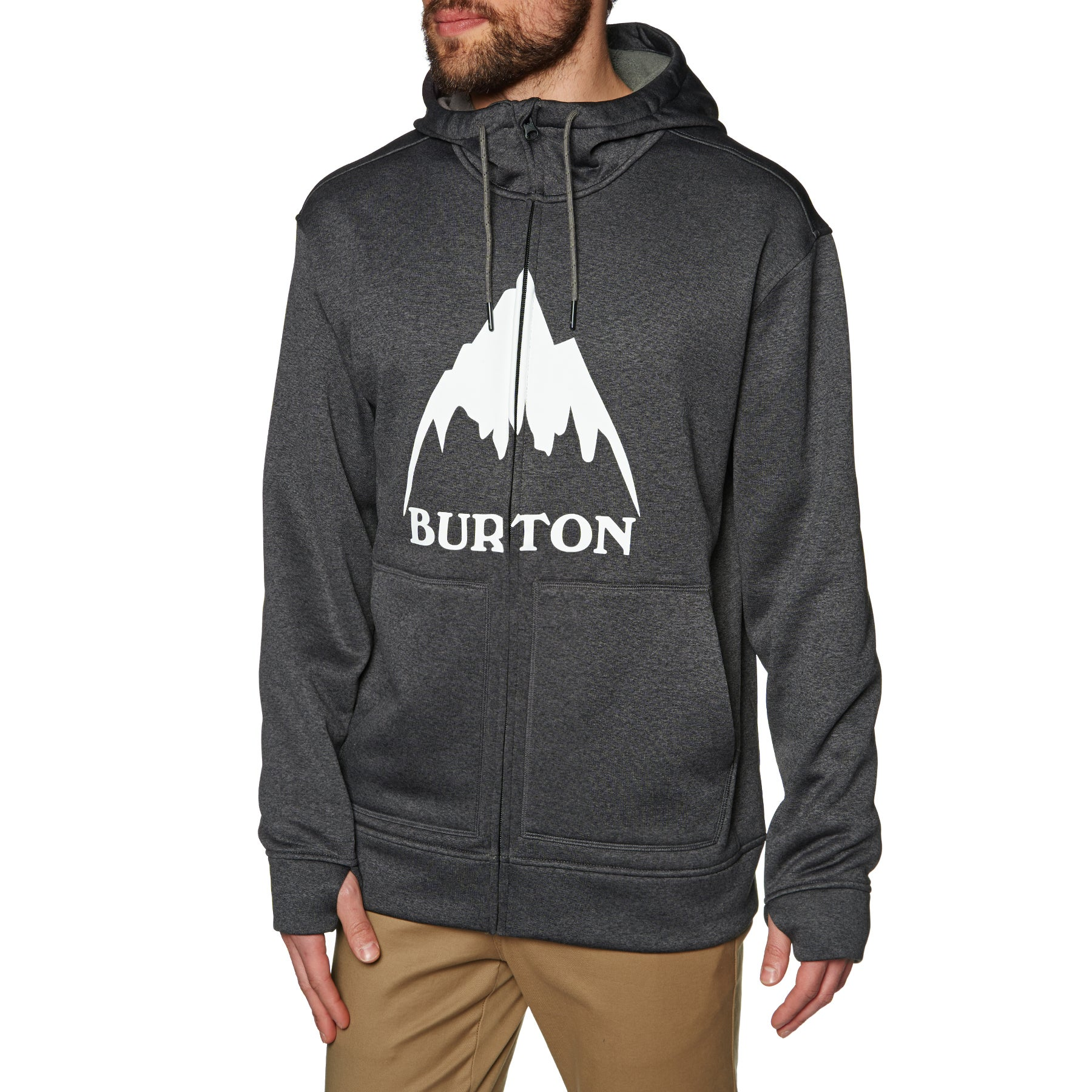Burton Oak Zip Hoody - True Black Heather