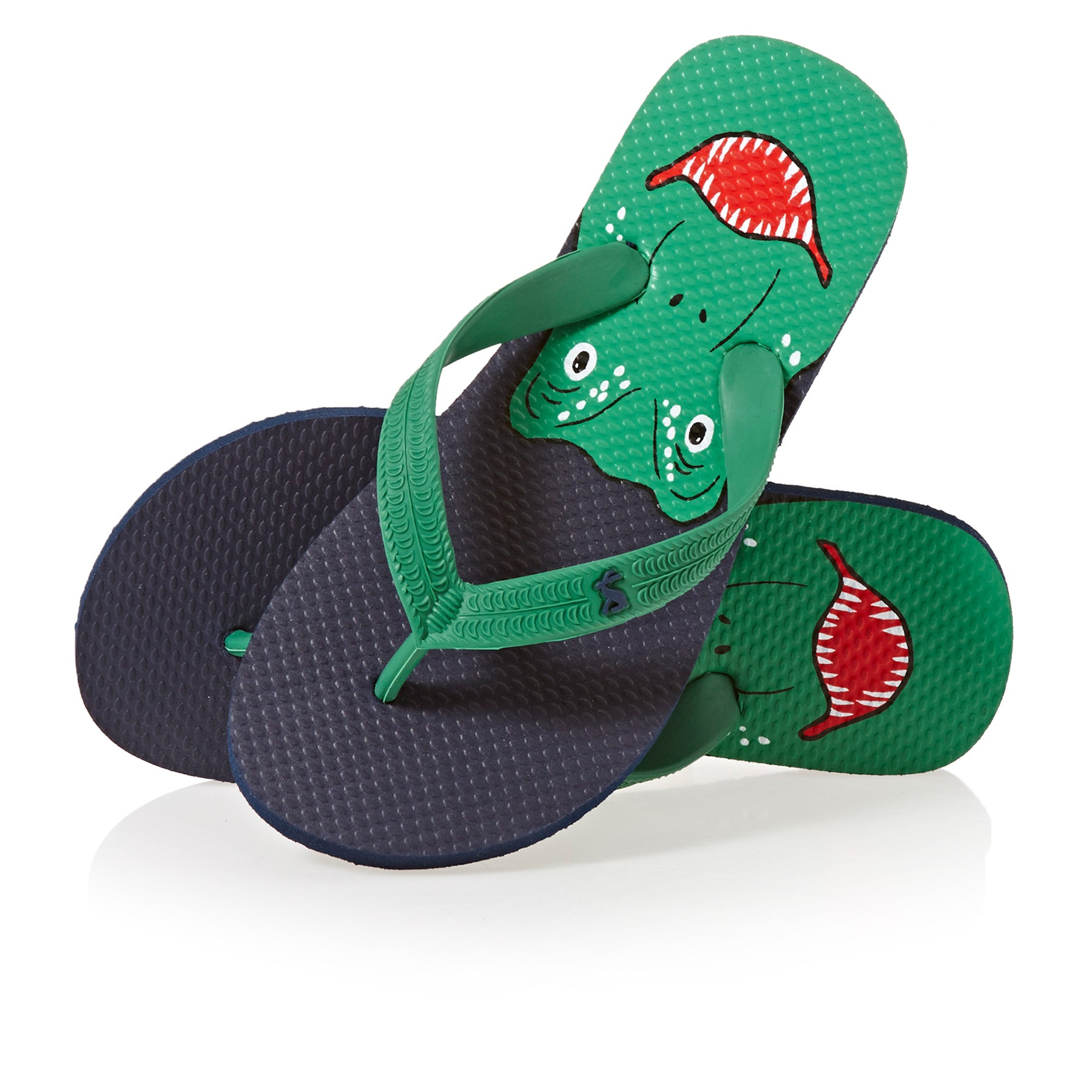 Joules Printed Boys Sandals - Navy Dinosaur