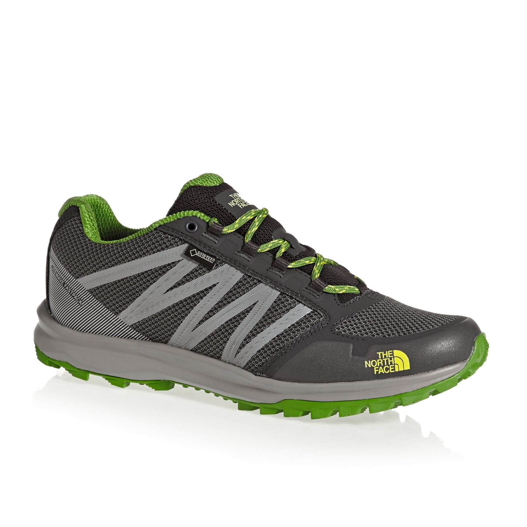 North Face Litewave FP GTX Shoes - Dark Shadow Grey Flashlight Green