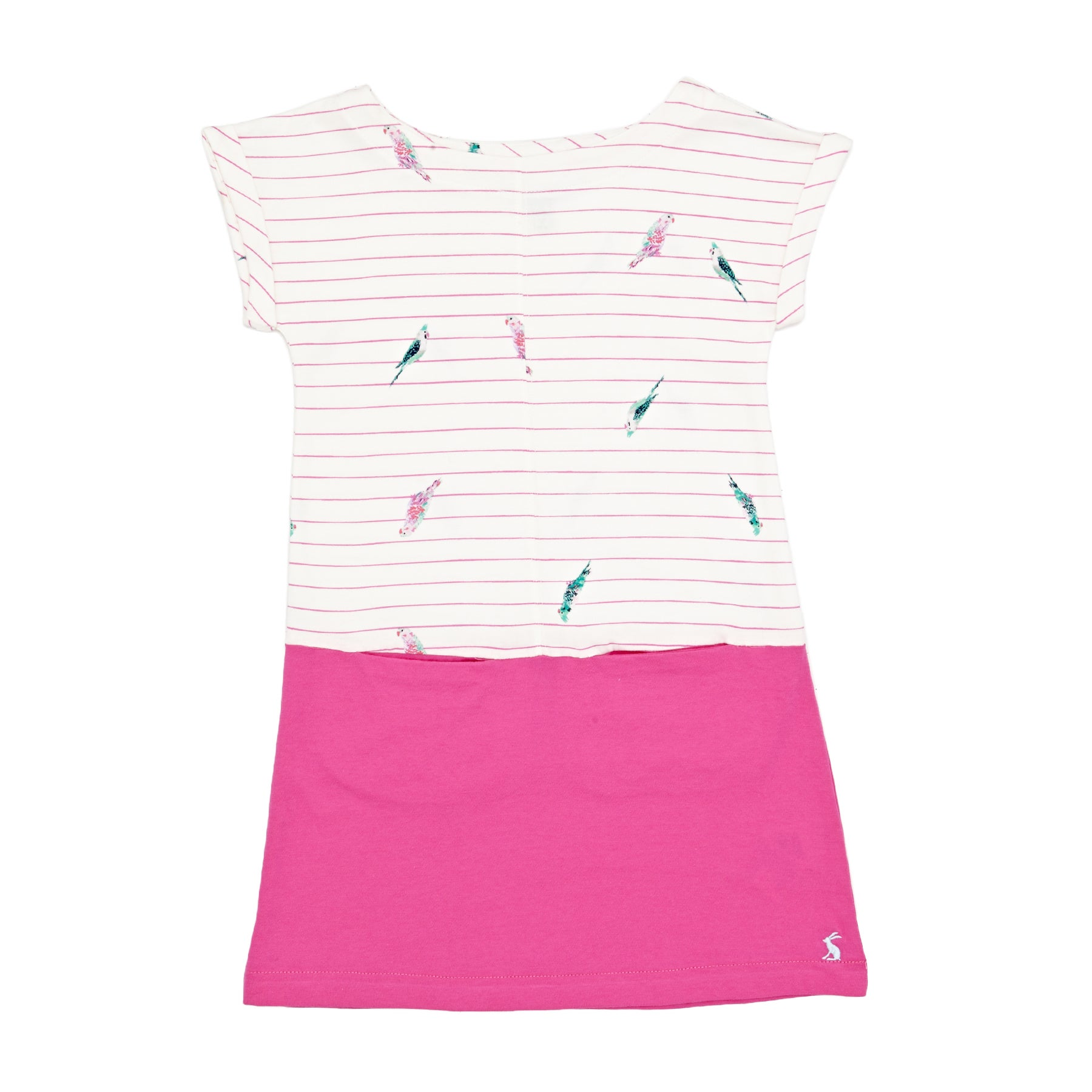 Joules Karolina Girls Dress - Bright Pink Stripe