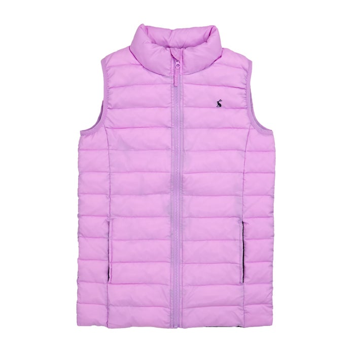 23ff19509 Joules Girls Croft Padded Packaway Kids Body Warmer available from ...
