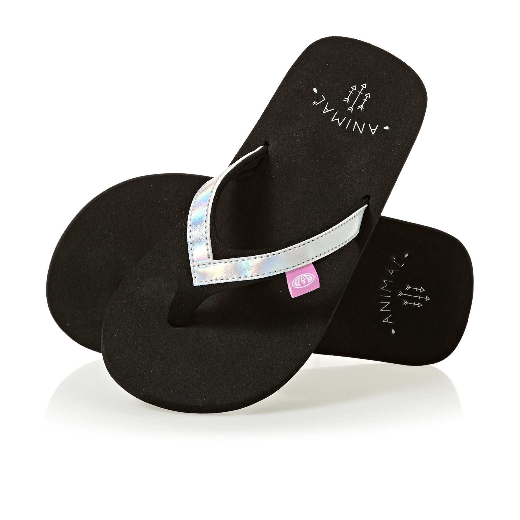 Animal Swish Slim Girls Girls Sandals - Black