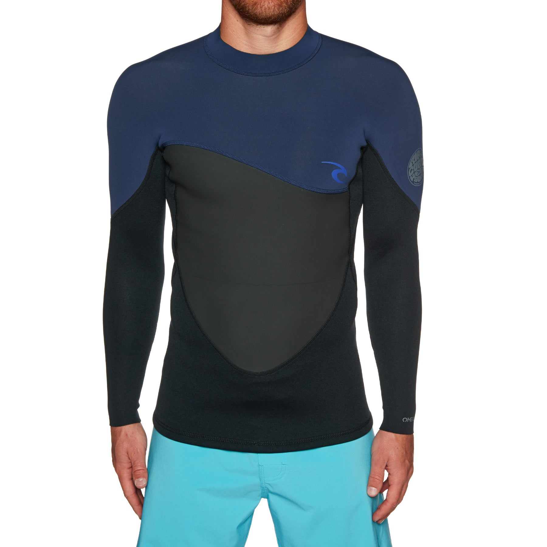 Rip Curl 1.5mm Omega Long Sleeve Top Wetsuit - Navy