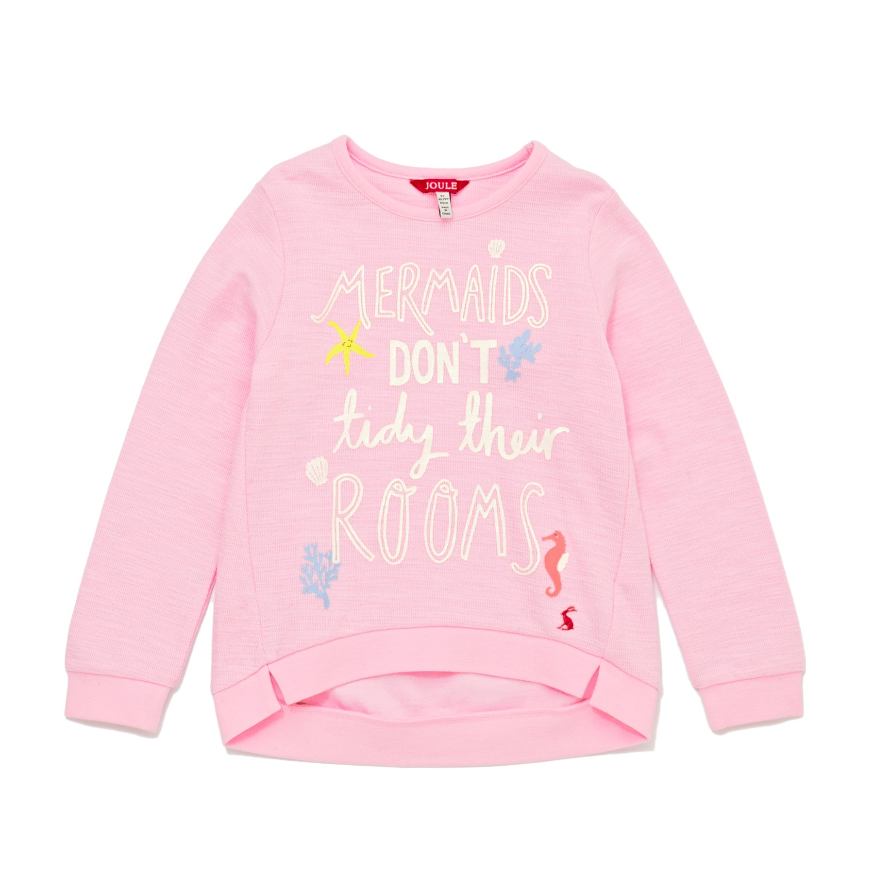 Joules Mart Girls Sweater - Rose Pink