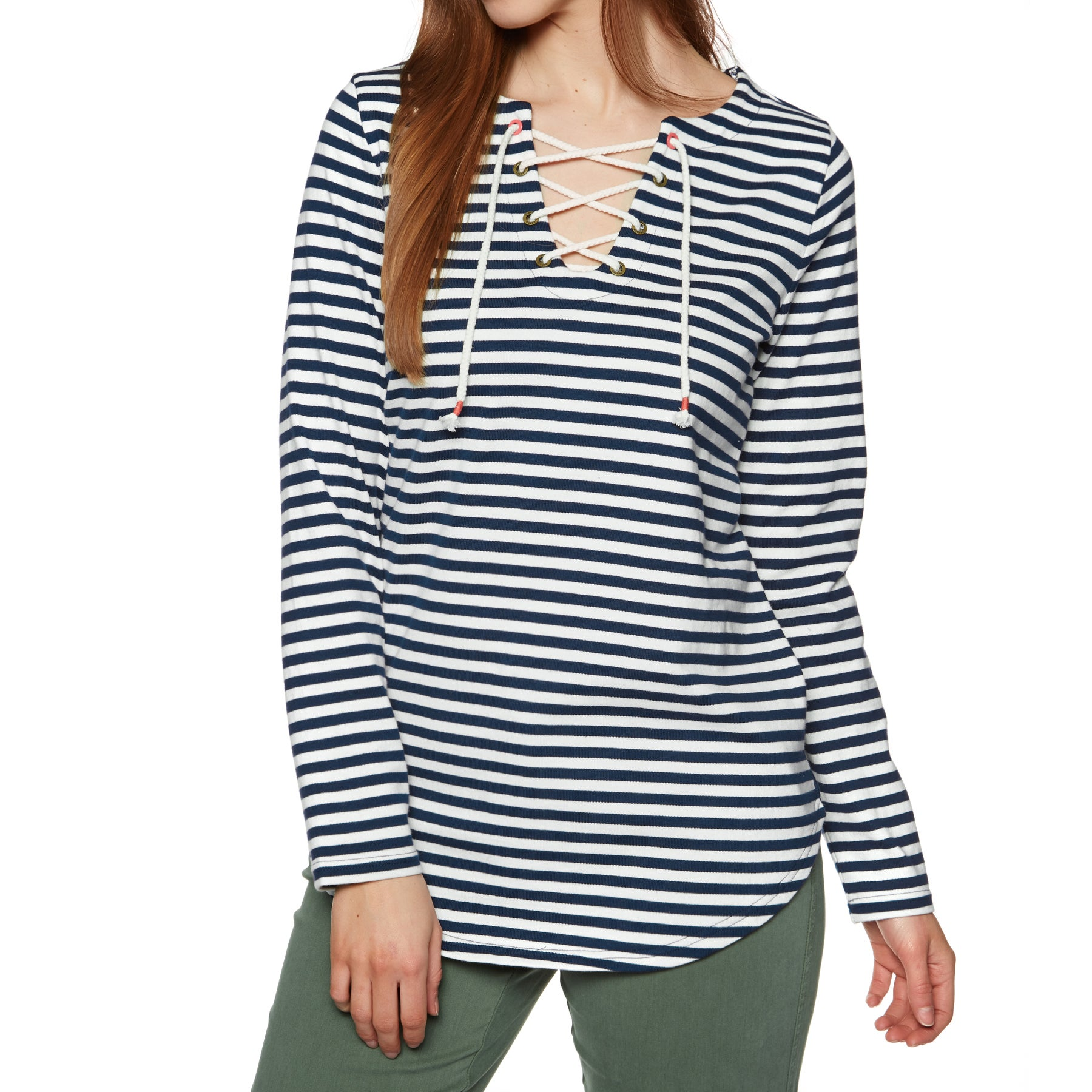 Joules Lacey Womens Pullover Hoody - French Navy Stripe