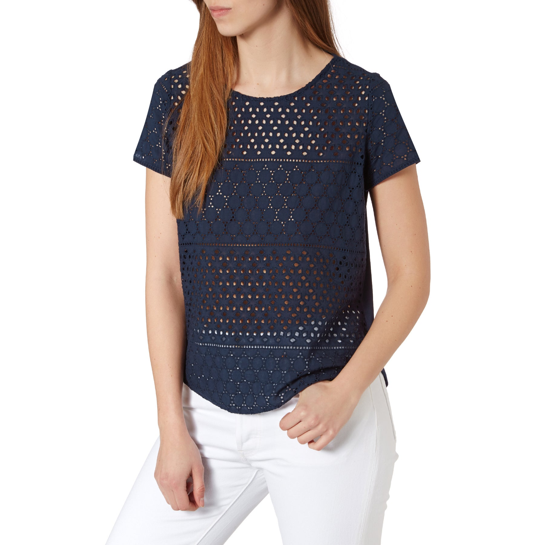 Joules Nadine Womens Short Sleeve T-Shirt - French Navy