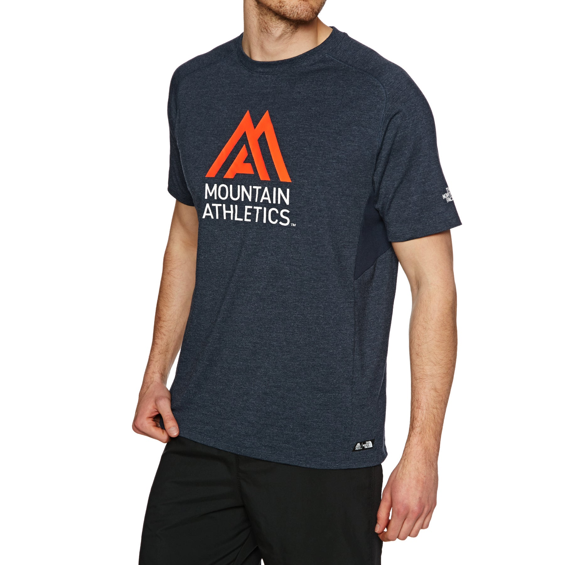 Tops de Sport North Face Wicke Graphic Crew - Urban Navy Heather Persian Orange