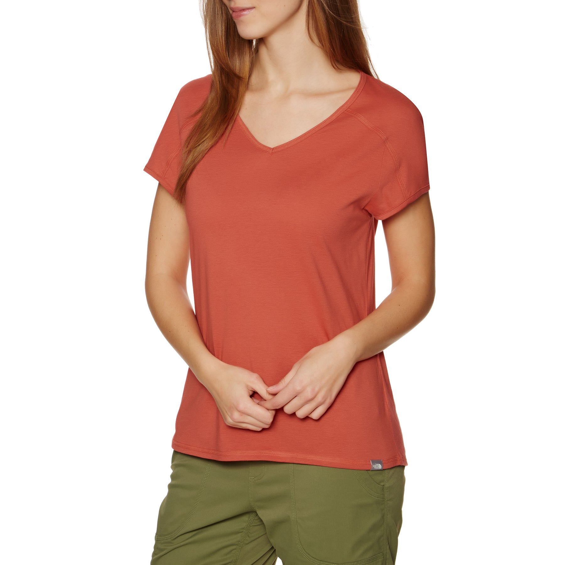 T-Shirt à Manche Courte Femme North Face Dayspring - Bossa Nova Red Sunbaked Red