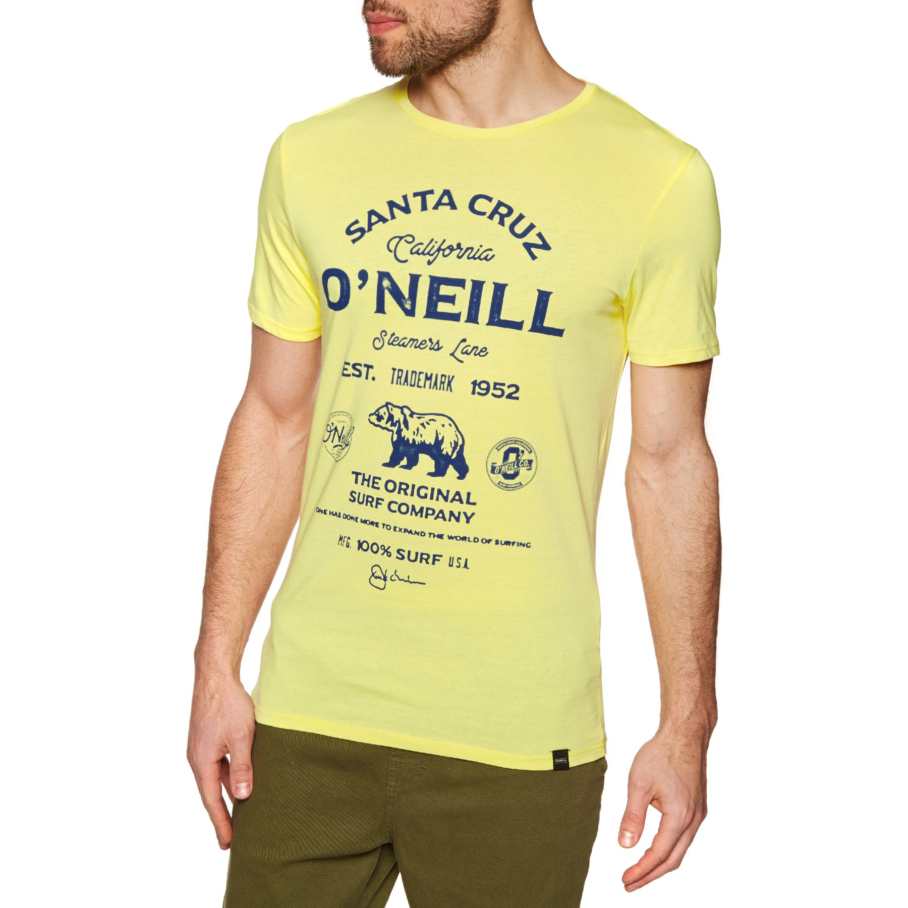 O Neill Muir Short Sleeve T-Shirt - Lemon Sorbet