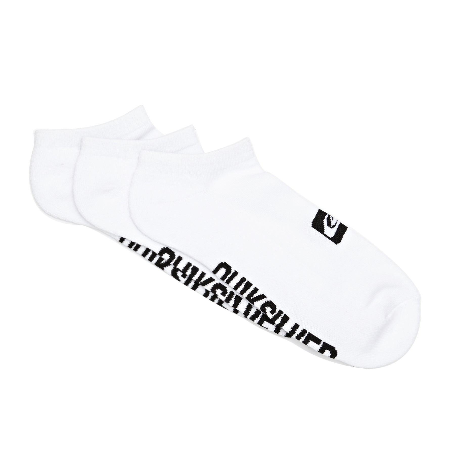 Quiksilver 3 Pack Ankle Socks - White