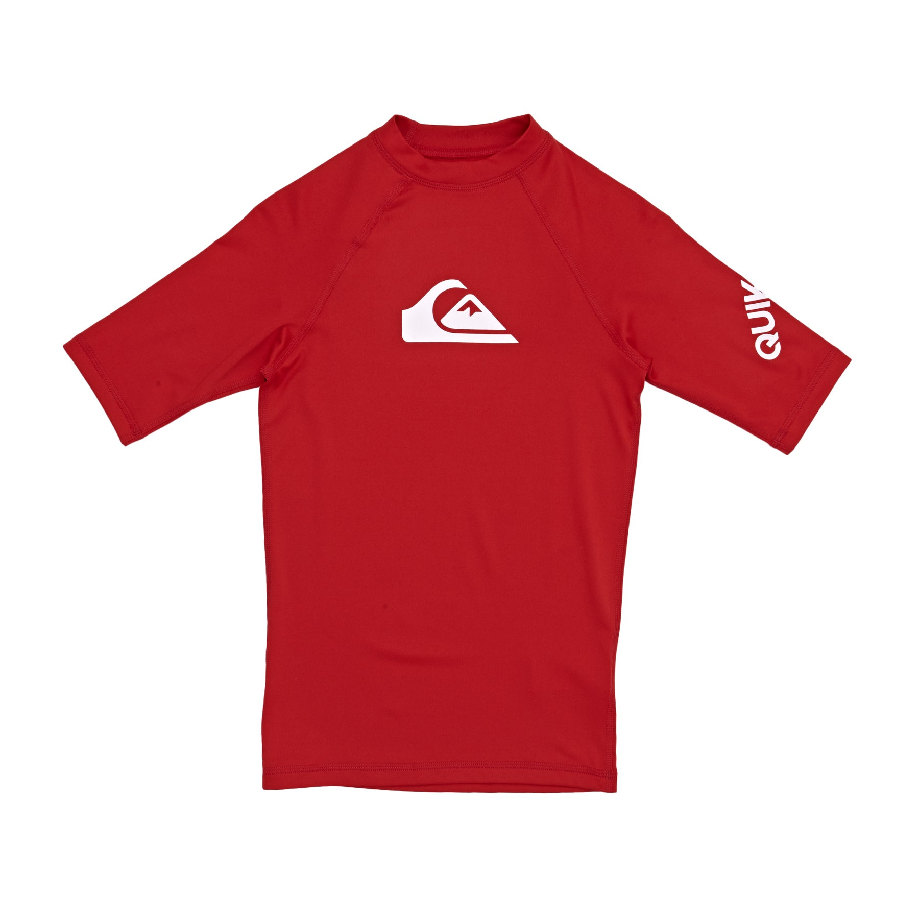 Quiksilver All Time Short Sleeve Boys Rash Vest - Quik Red
