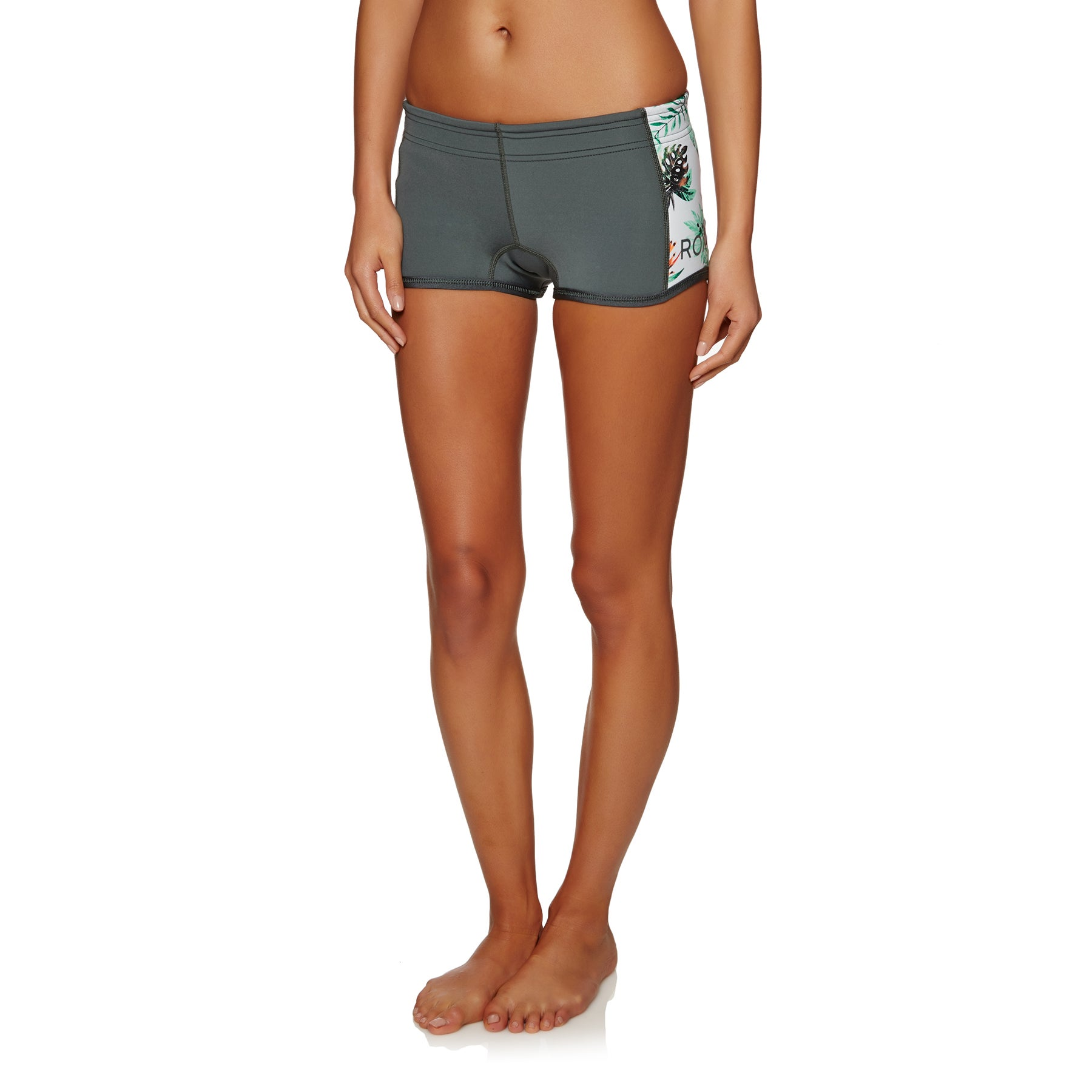 Roxy 1mm 2018 Syncro Reef Short Womens Wetsuit Shorts - Ash/ Pistaccio