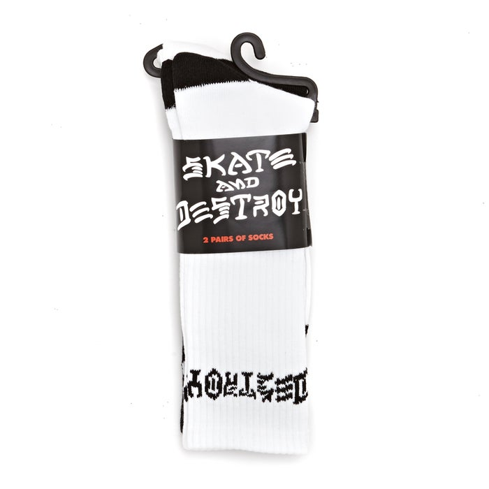 Thrasher Skate Destroy 2 Pack Socks