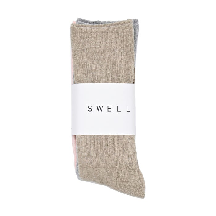SWELL Marle Rib 3 Pack Womens Socks